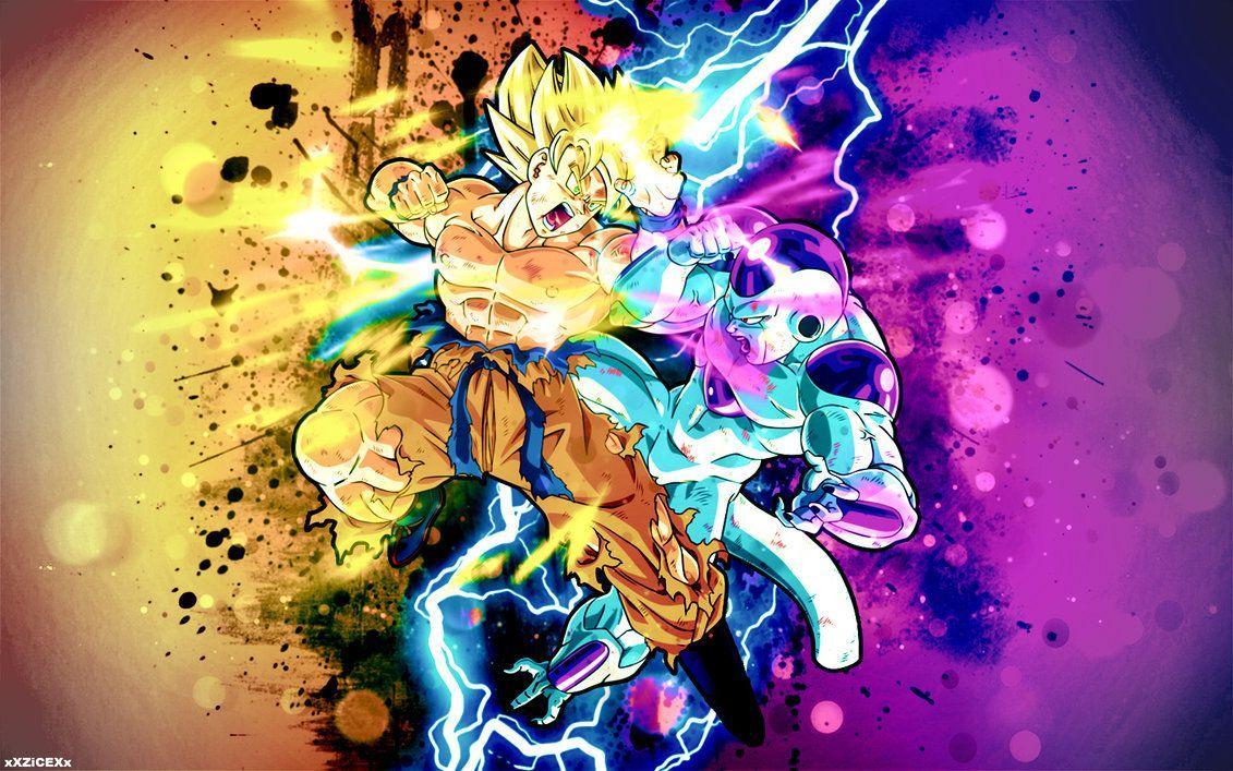 Goku fighting wallpapers wallpaper cave - Frieza wallpaper ...
