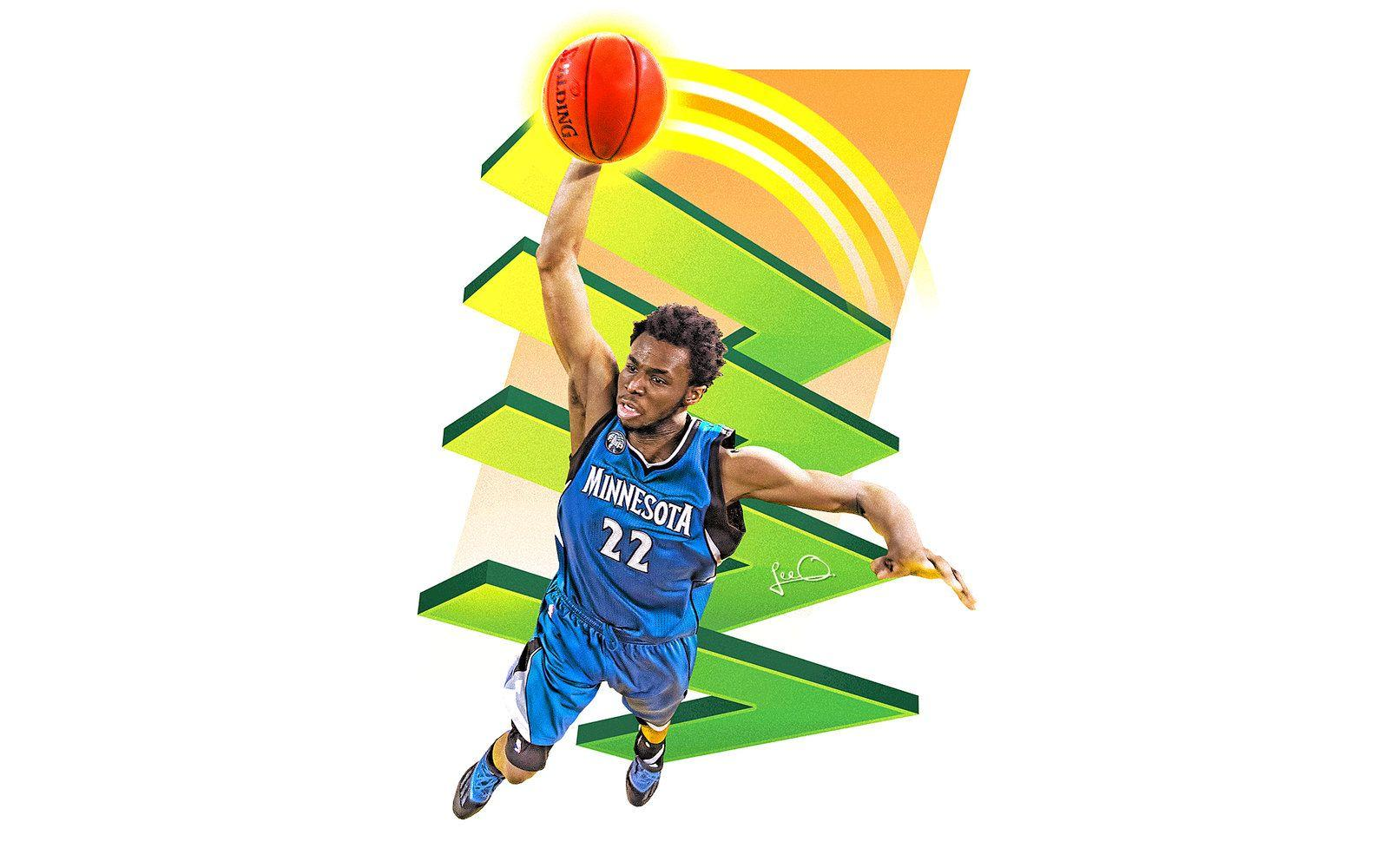 Andrew Wiggins Skybox NBA Wallpapers by skythlee
