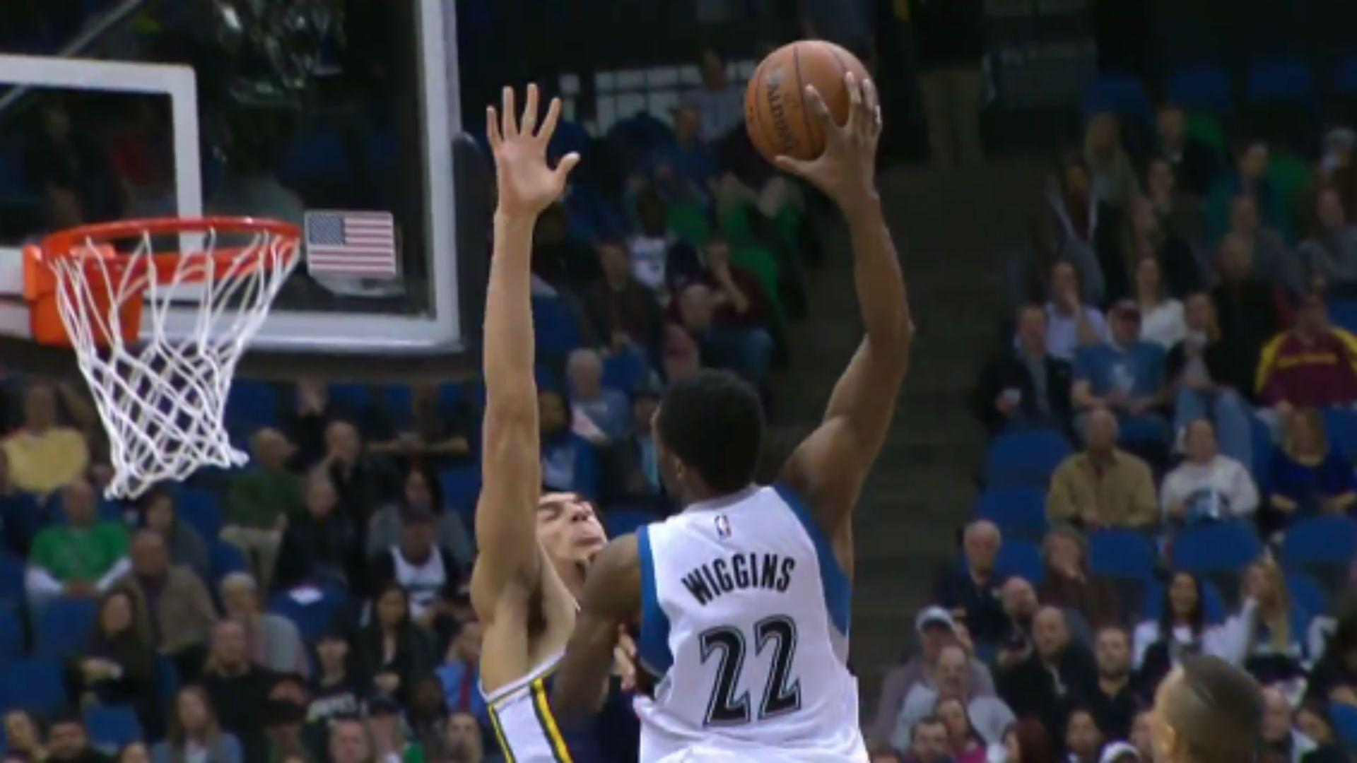 Andrew Wiggins dunks all over Rudy Gobert not once, but twice