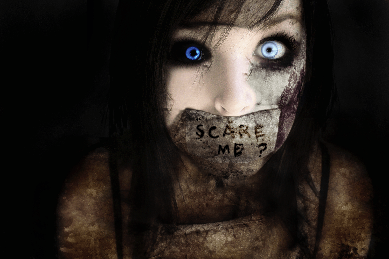 Girl scary wallpapers exclusive photo