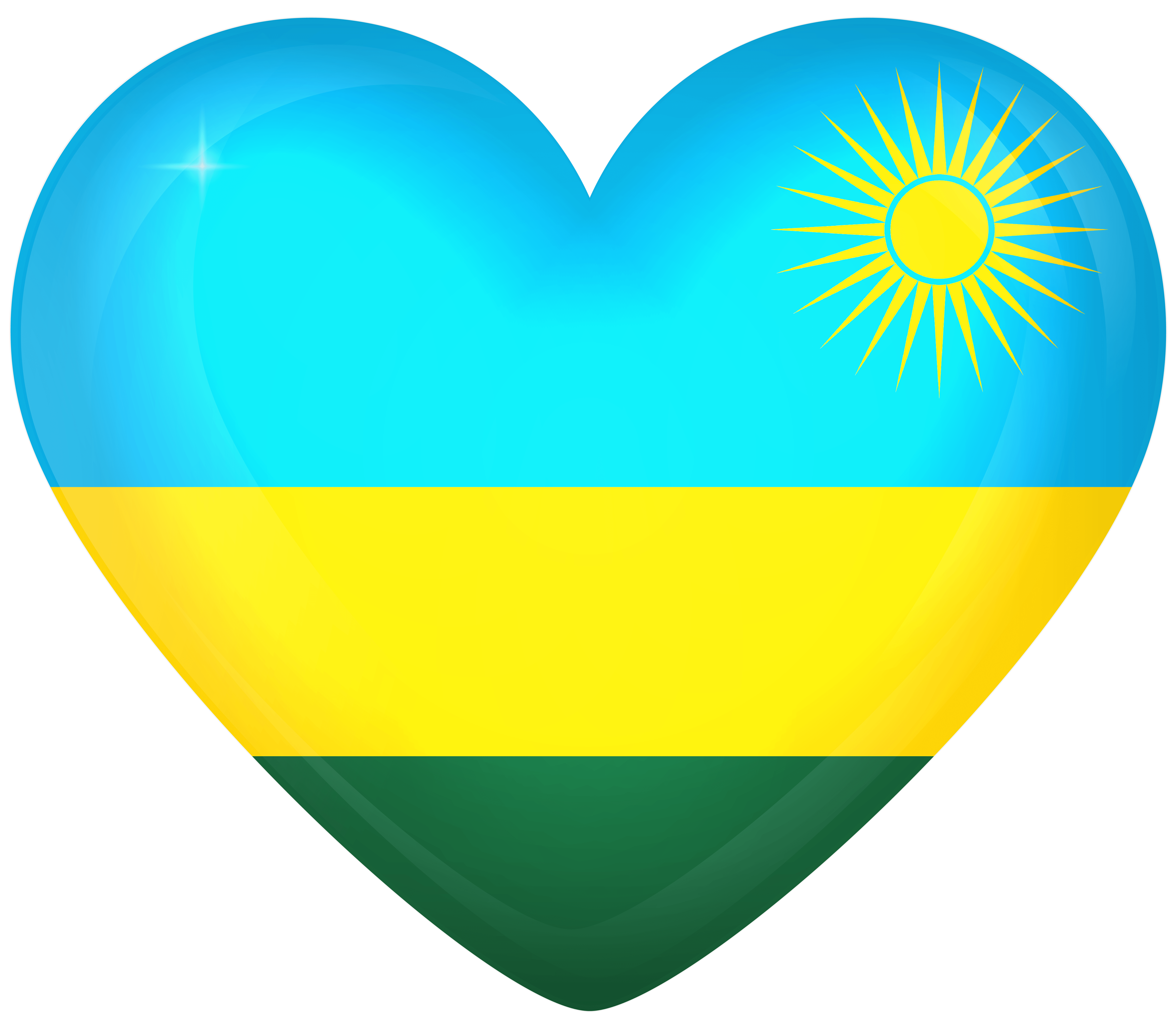 Rwanda Large Heart Flag | Gallery Yopriceville - High-Quality ...