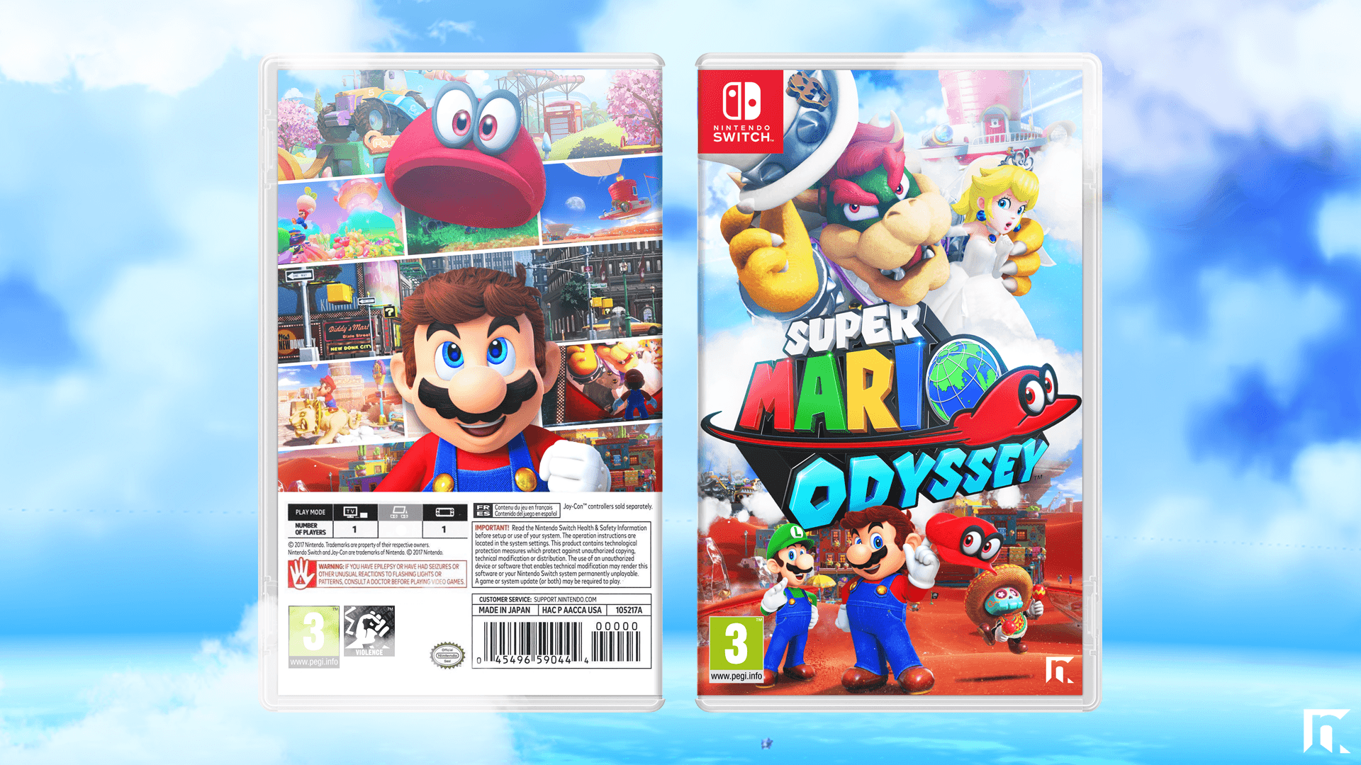Super Mario Odyssey Misc Box Art Cover by RobertNGraphics