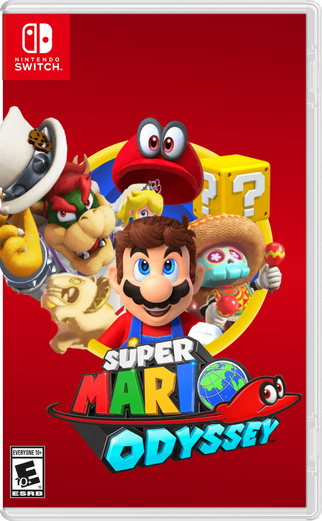 Nintendo Switch Box Art: Super Mario Odyssey by Zyphyris
