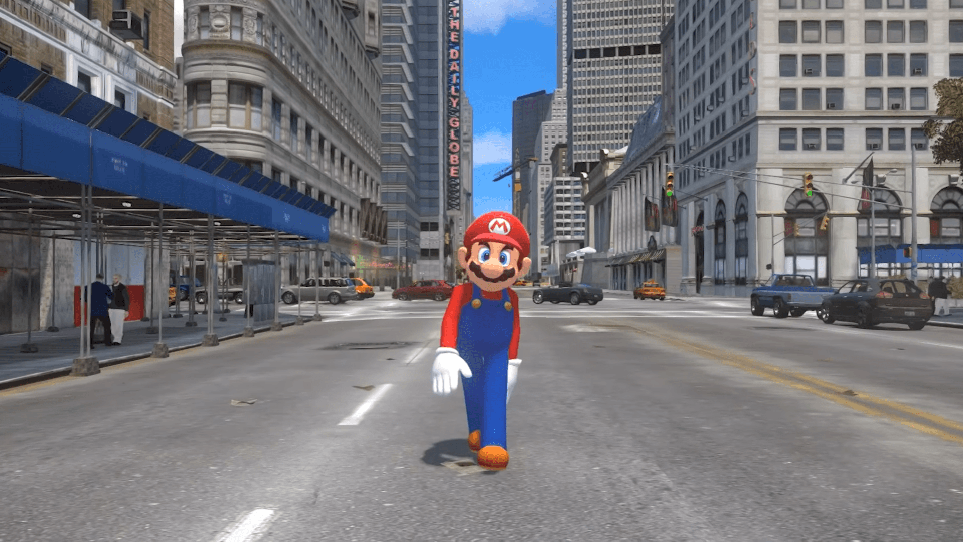 The Super Mario Odyssey trailer remade in GTA 4 is better than the