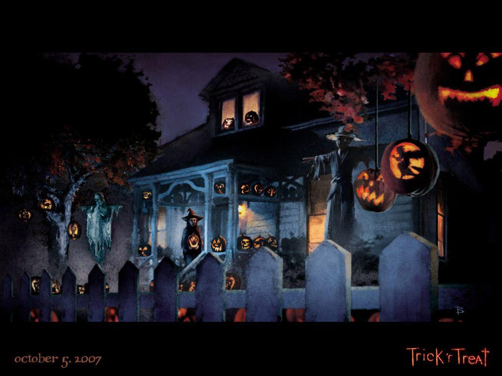 trick or treaters painting