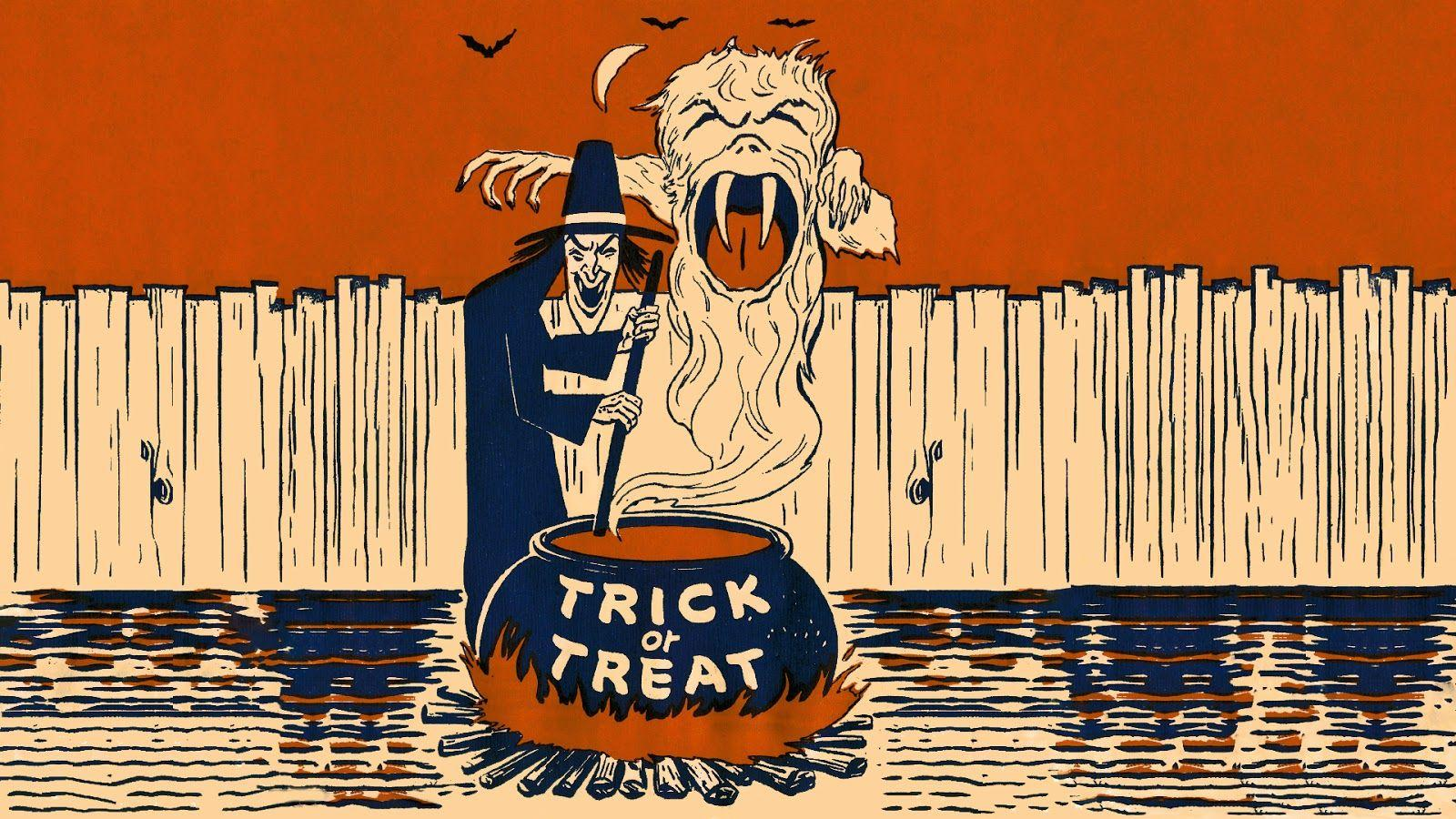 Neato Coolville: HALLOWEEN WALLPAPER: WITCH'S BREW OF TRICK OR TREAT