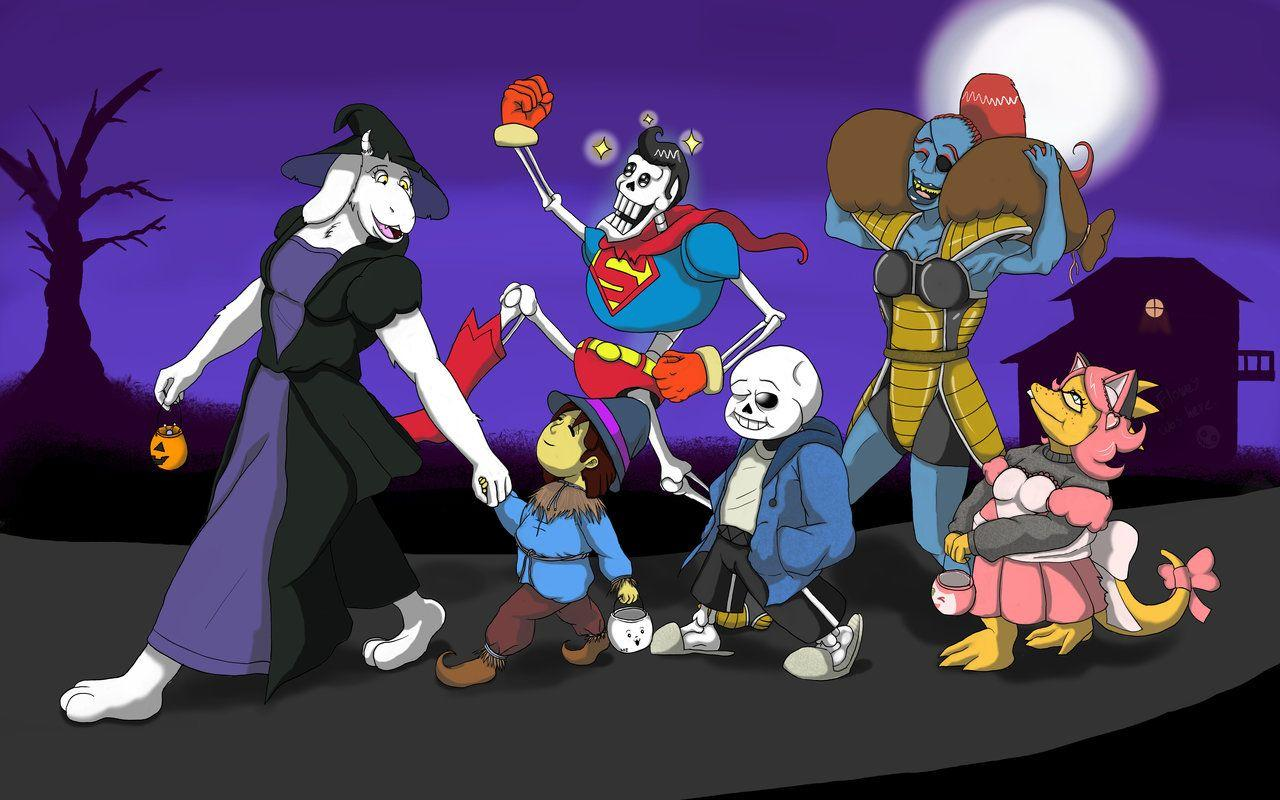 Undertale Halloween: Trick or Treating by Trelock