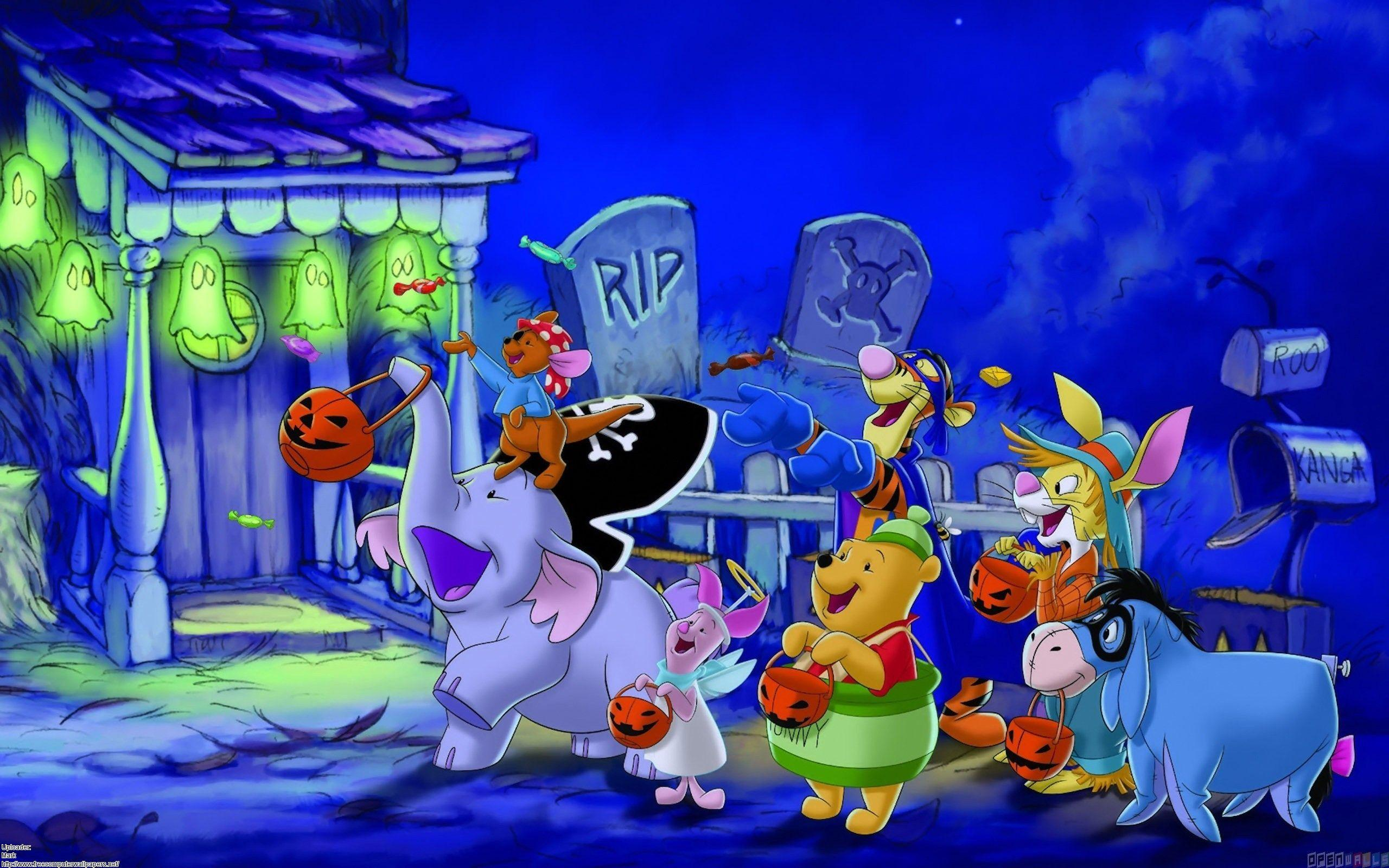 Disney halloween, trick or treating for candy wallpapers