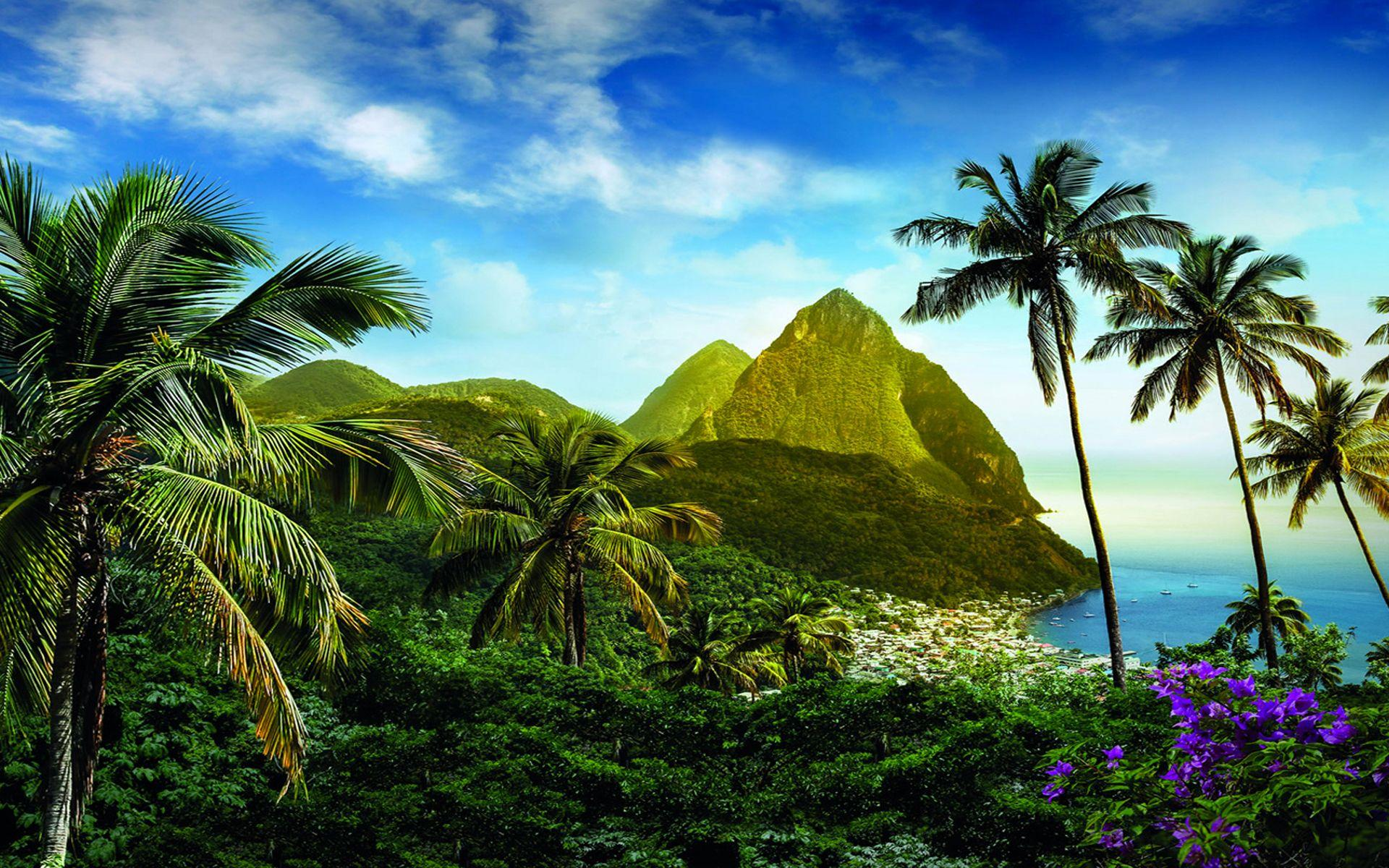 St Lucia in the Caribbean Full HD Wallpaper and Background ...