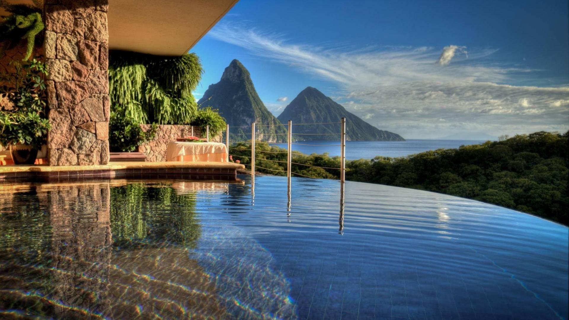 Other: Infinity Pool Resort Paradise Beautiful View St Lucia ...