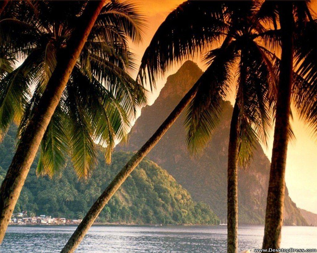 Desktop Wallpapers » Natural Backgrounds » The Piton, Soufriere ...