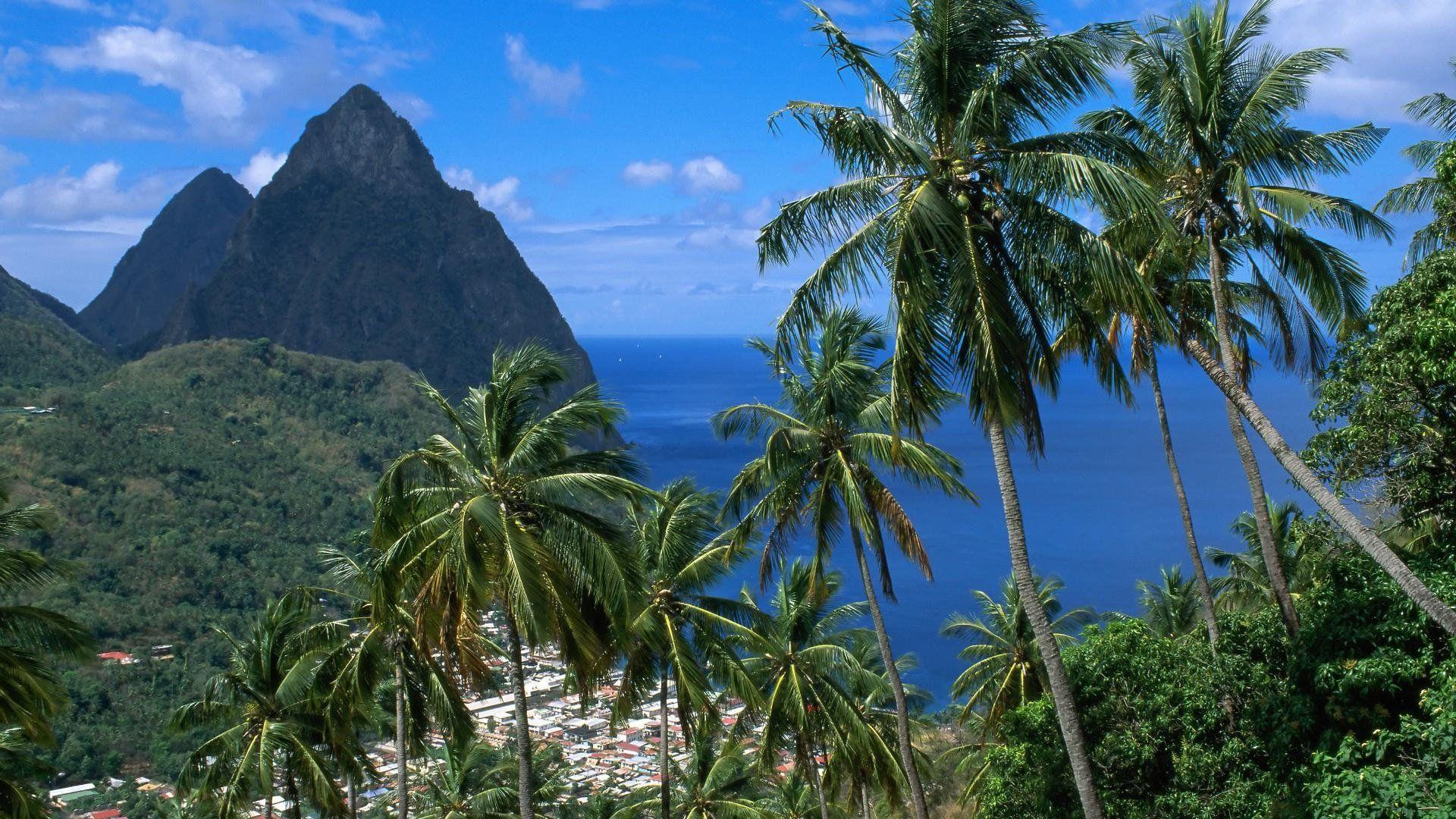 soufriere mountain piton caribbean soufriere and the pitons st ...