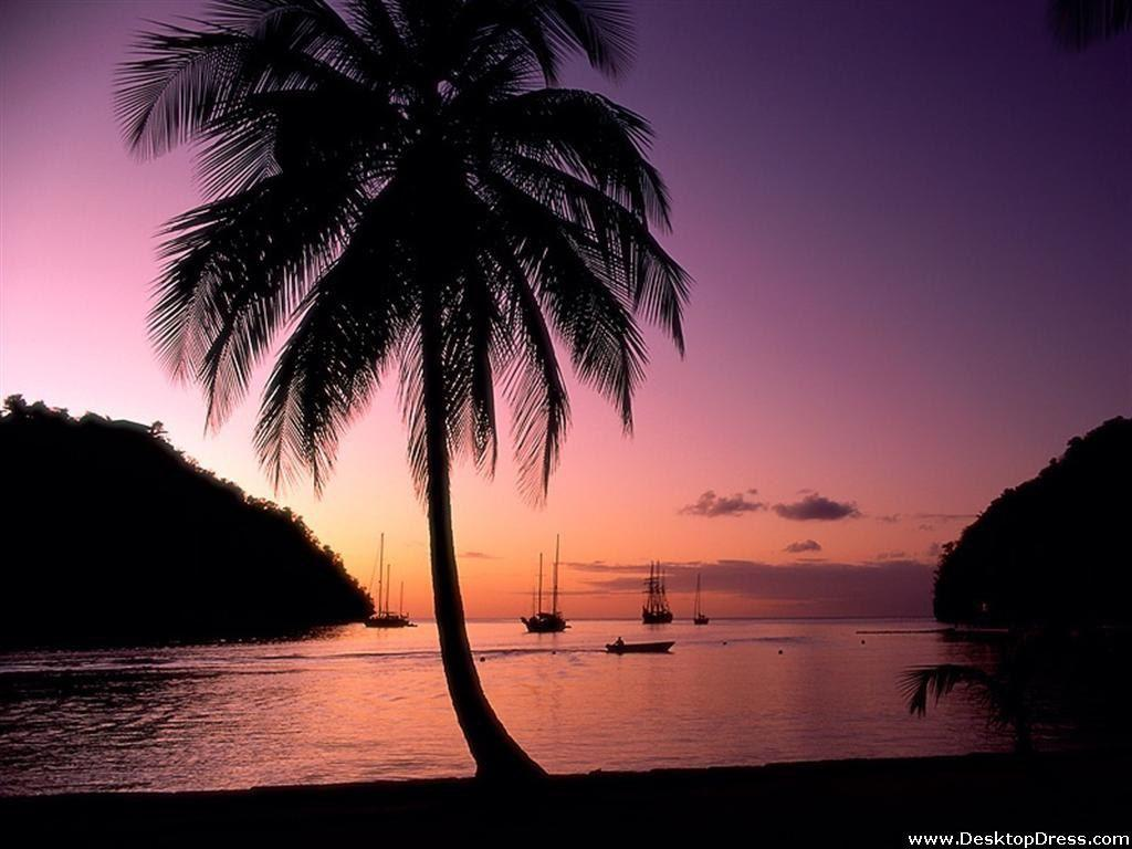 Desktop Wallpapers » Other Backgrounds » Marigot Bay, St Lucia ...