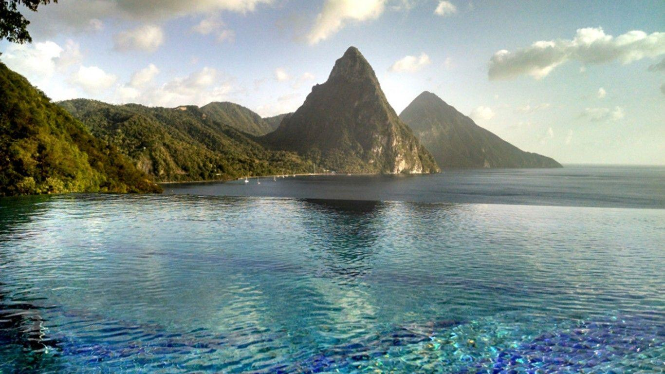 Caille Blanc Villa, Soufriere, St. Lucia : Wallpapers13.com