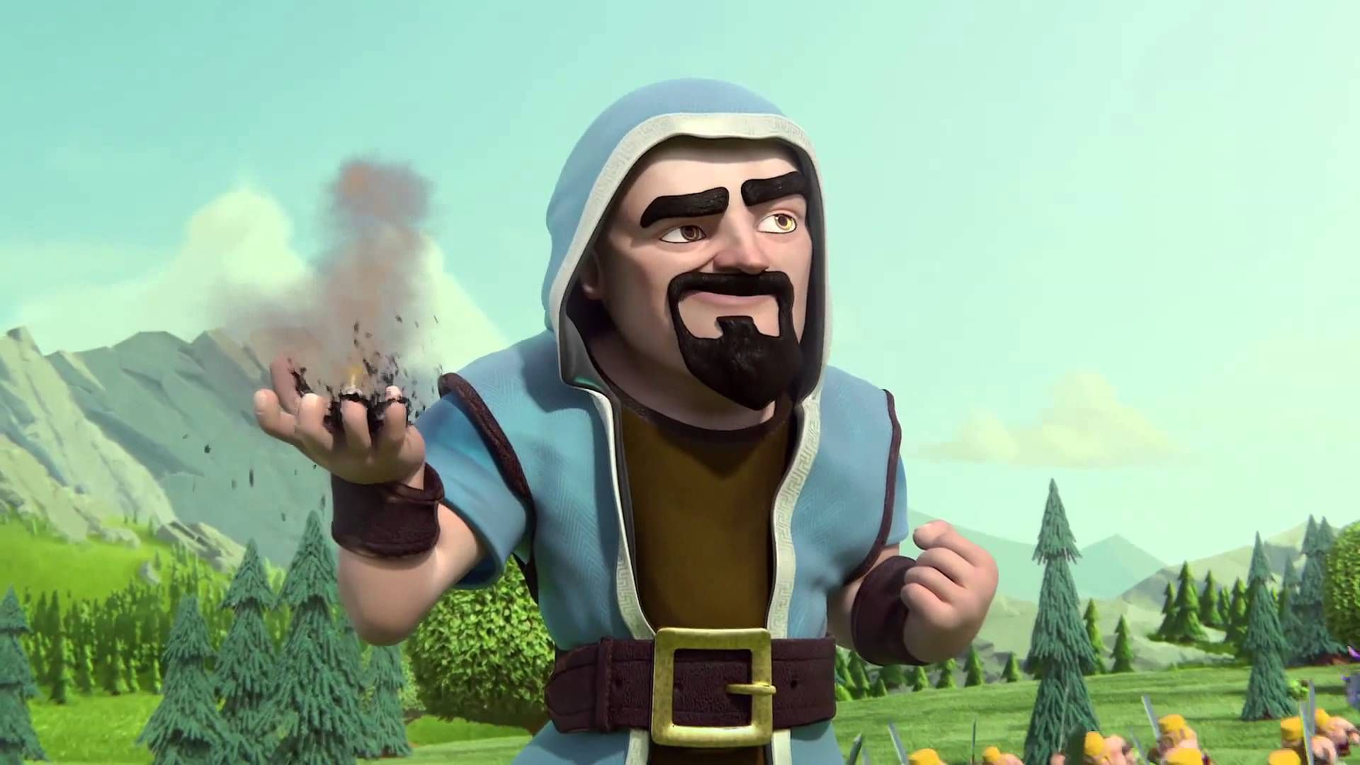 Clash Of Clans Wizard Hair Hype Man Animation You