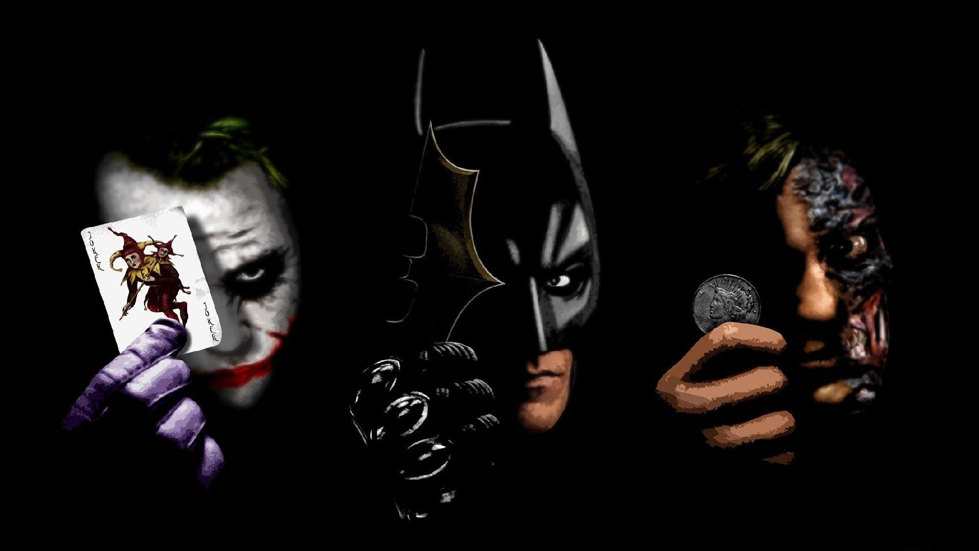 Batman, black, The Joker, Two