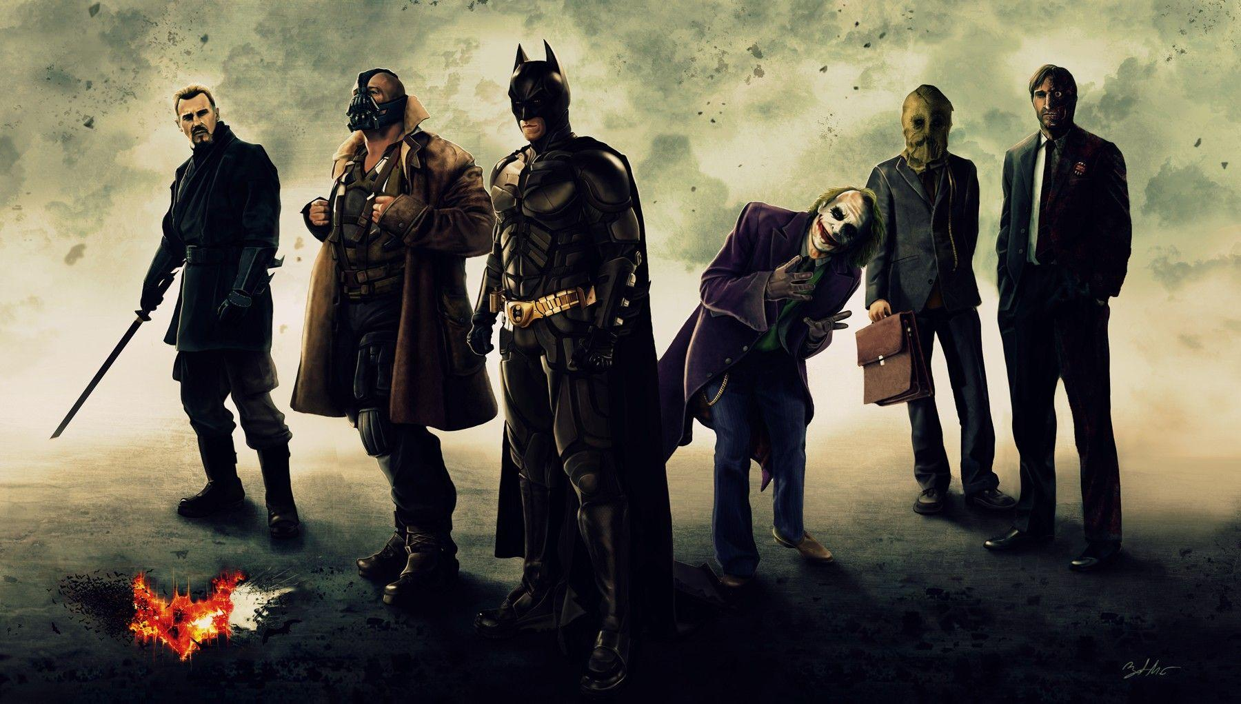 Batman, DC Comics, The Joker, Batman Begins, Two