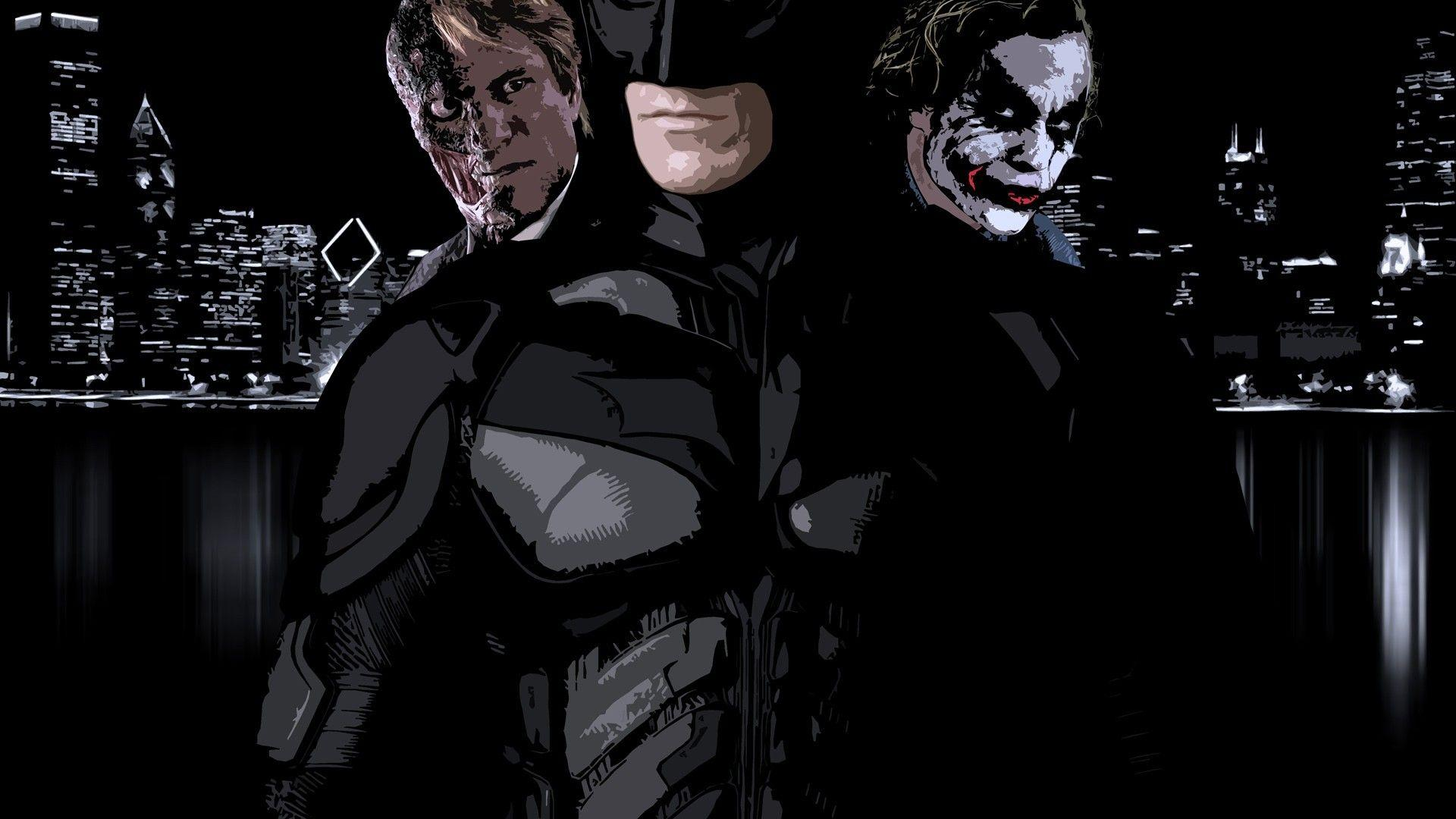 Harvey Dent, The Joker and Batman