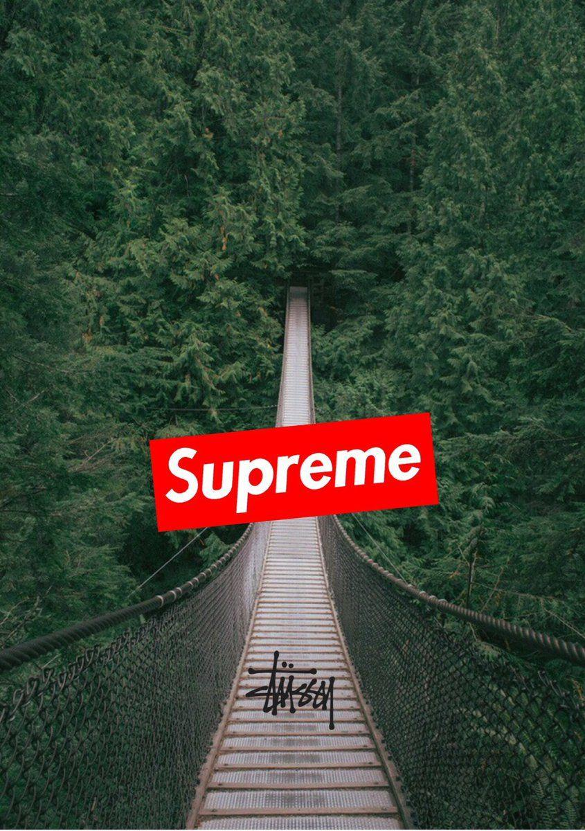 iphone wallpapers on Twitter: Supreme x stussy wallpapers