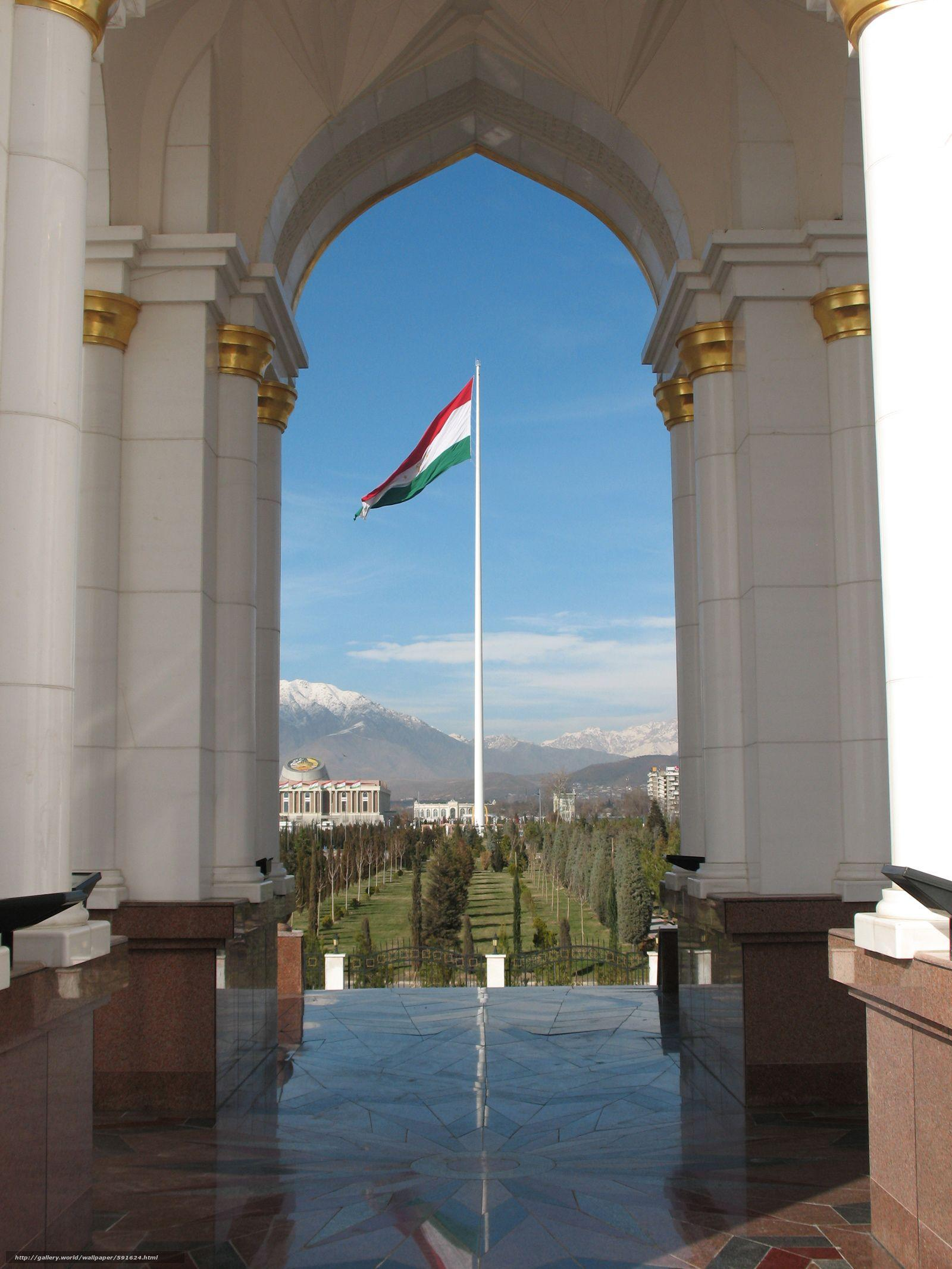 Download wallpapers Tajikistan, Dushanbe, government, flag free