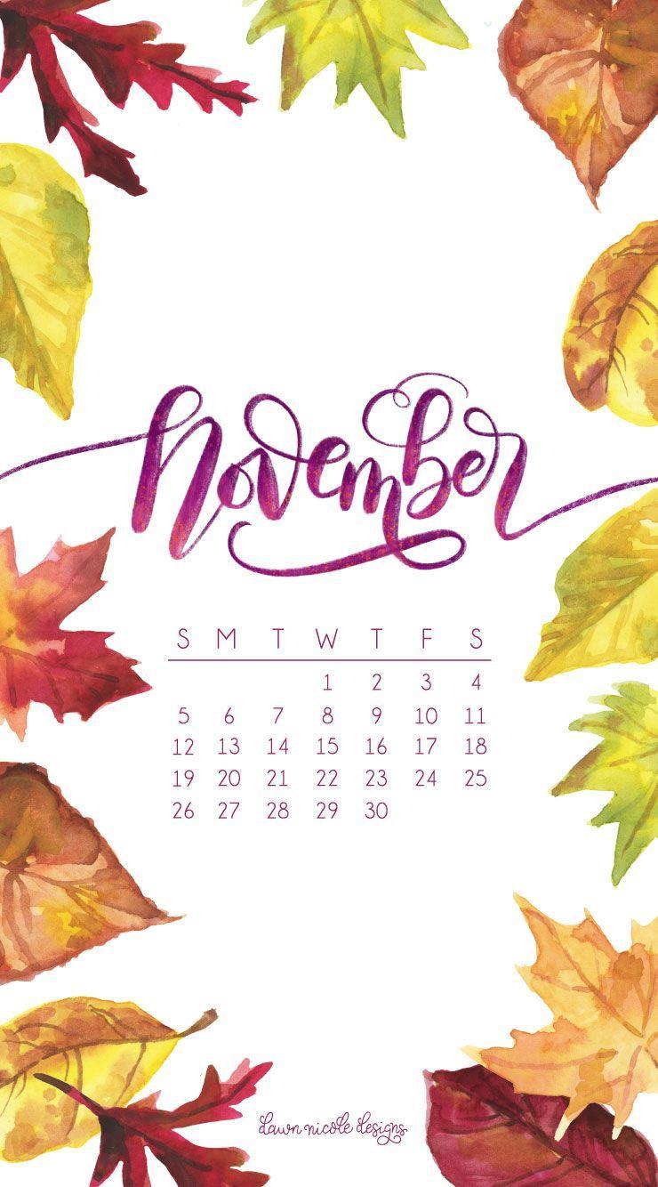 november 2017 calendar wallpapers