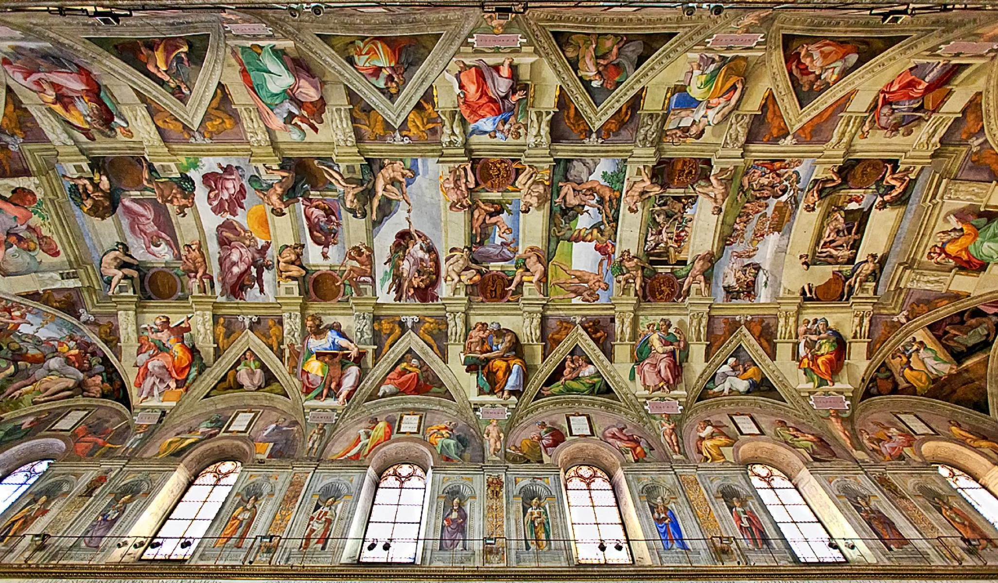 Michelangelo Buonarotti Ceiling of the Sistine Chapel Completed