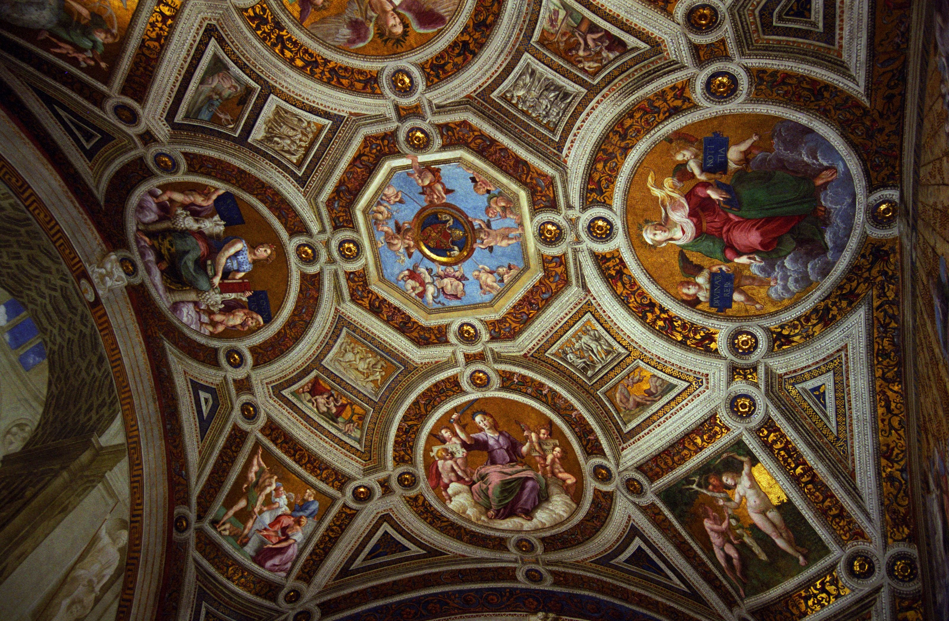 Ceiling of the Sistine Chapel : Travel Wallpapers and Stock Photo