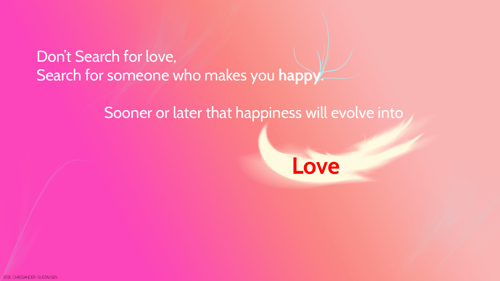 Pink Love Quotes Wallpapers Wallpaper Cave