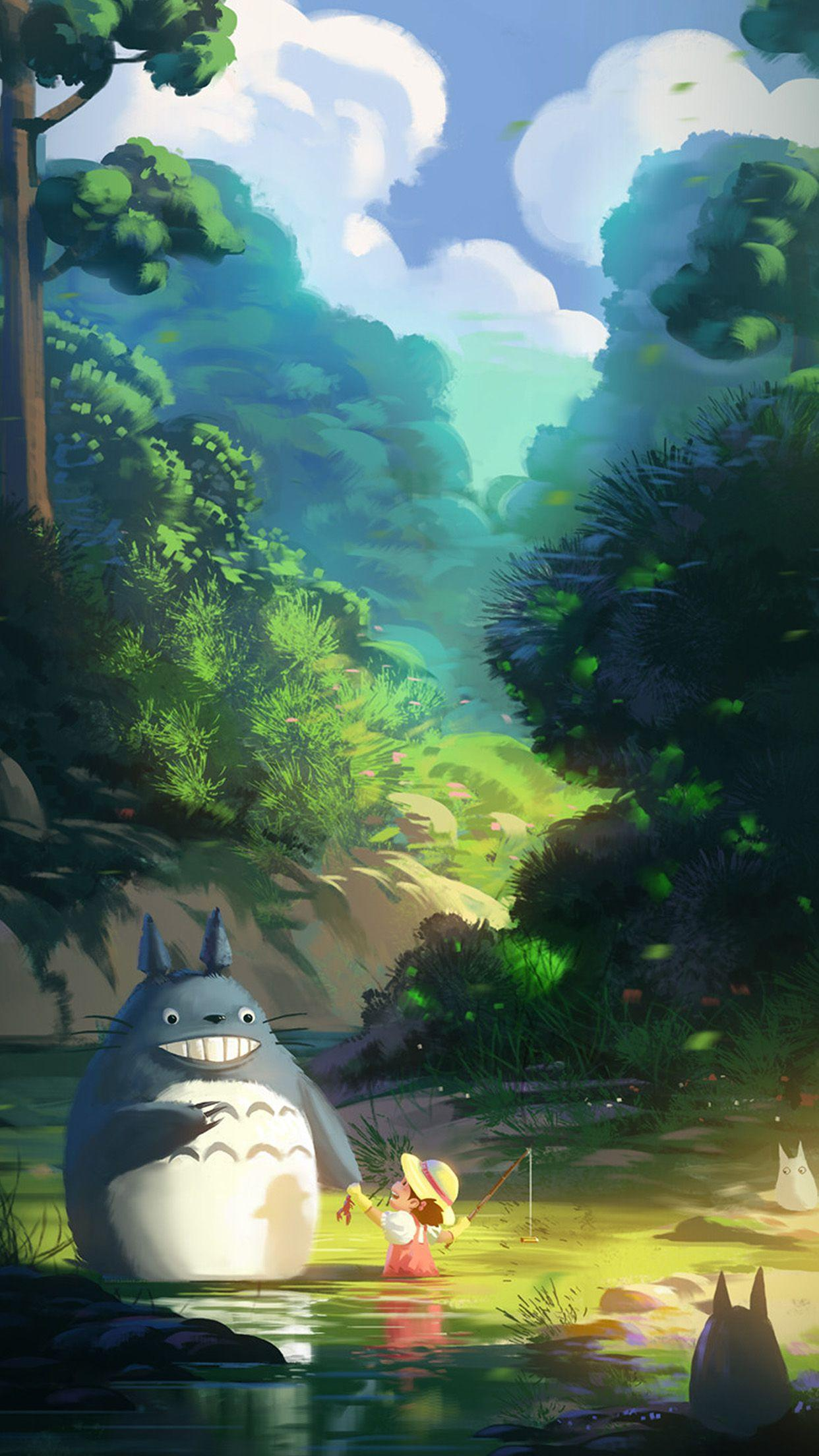 Totoro Anime Liang Xing Illustration Art Android wallpapers
