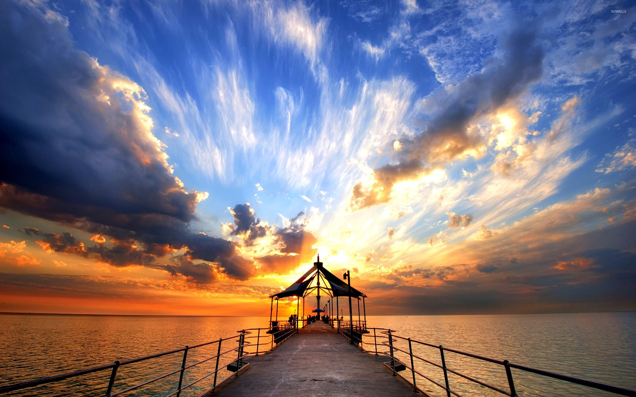 Pier in Trinidad and Tobago wallpaper - Photography wallpapers ...