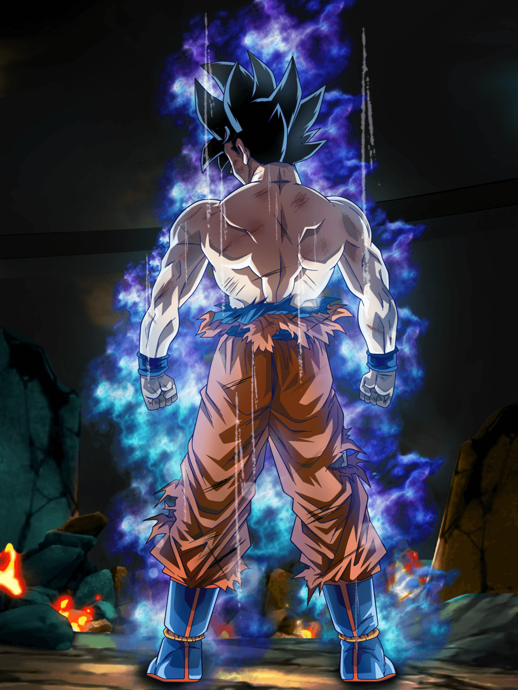 Son Goku Ultra Instinct Form by rmehedi