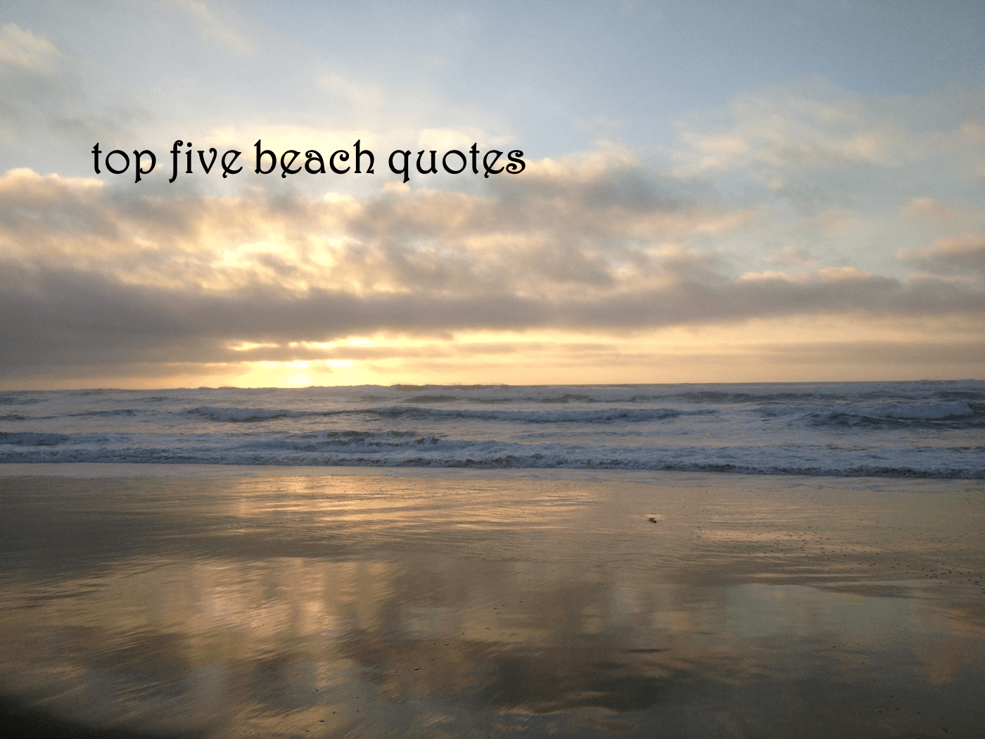 BEACH Quotes Like Success