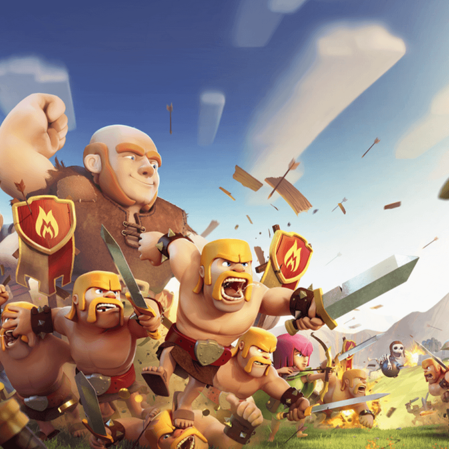 Download Clash Clans Painting Wallpaper