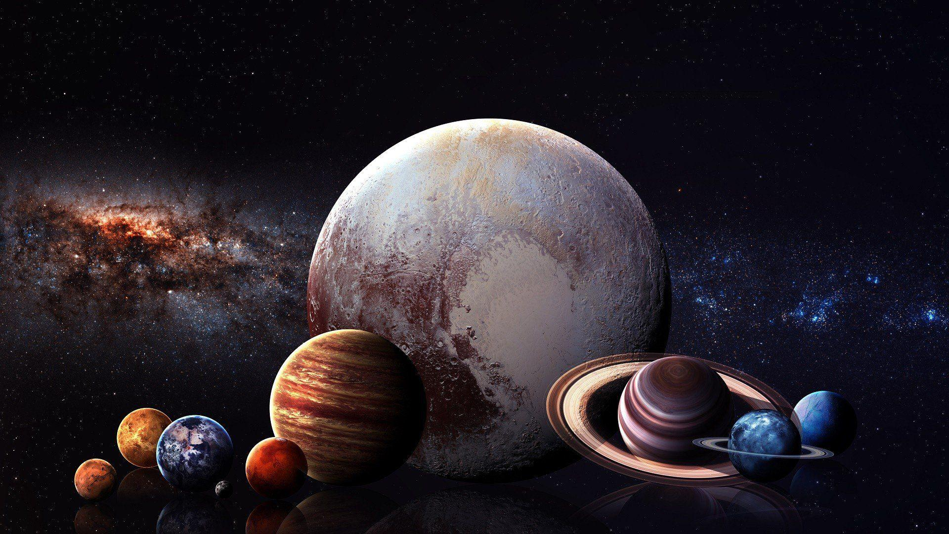 digital art, Space art, Planet, Space, Stars, Solar System, Milky
