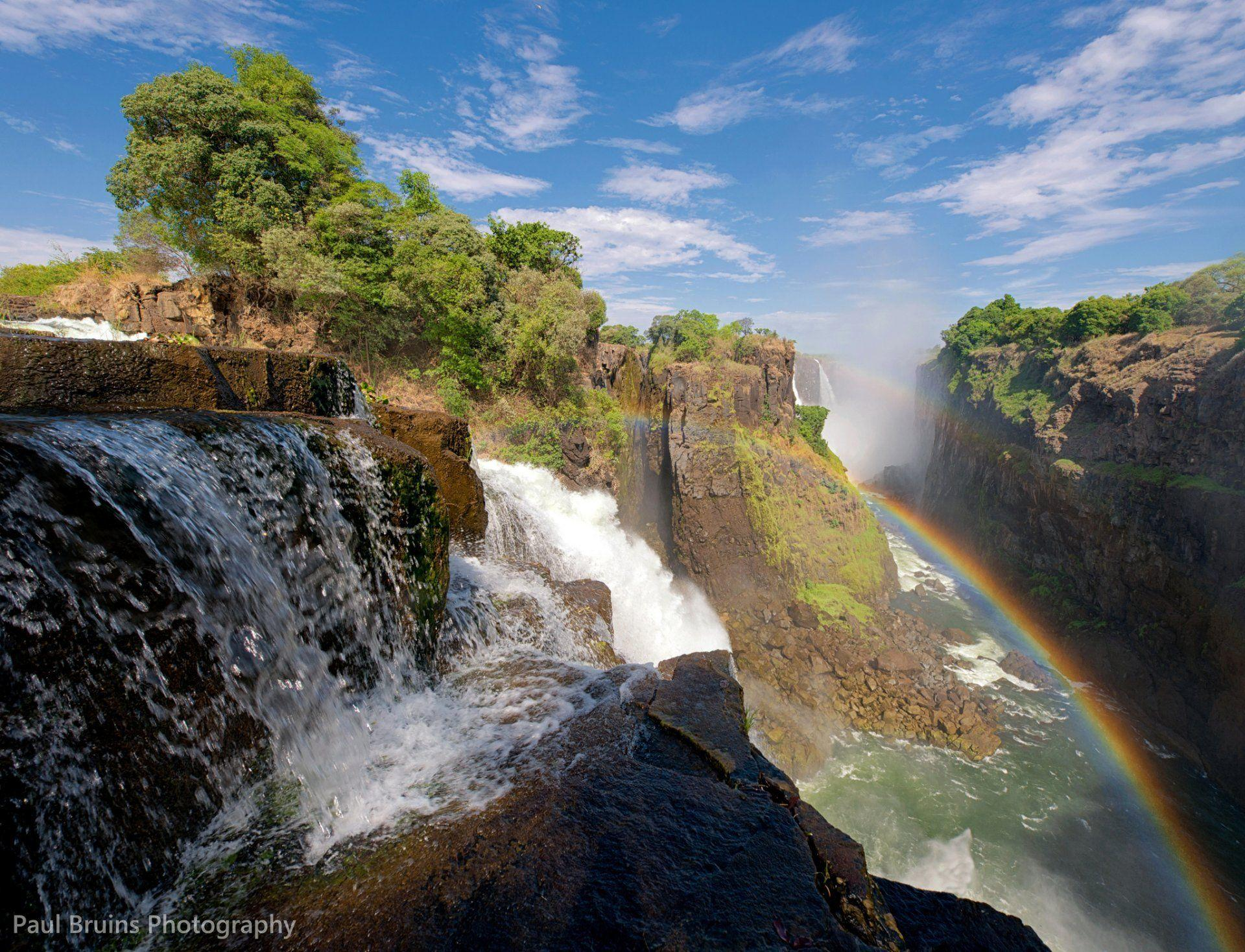 nature rainbow waterfall victoria south africa zambia and zimbabwe ...