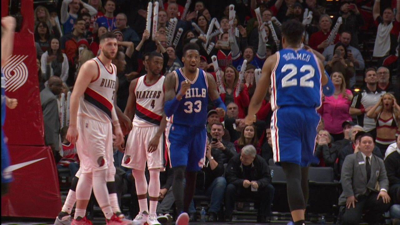 Robert Covington Sends the Game to OT At The Buzzer against Trail ...