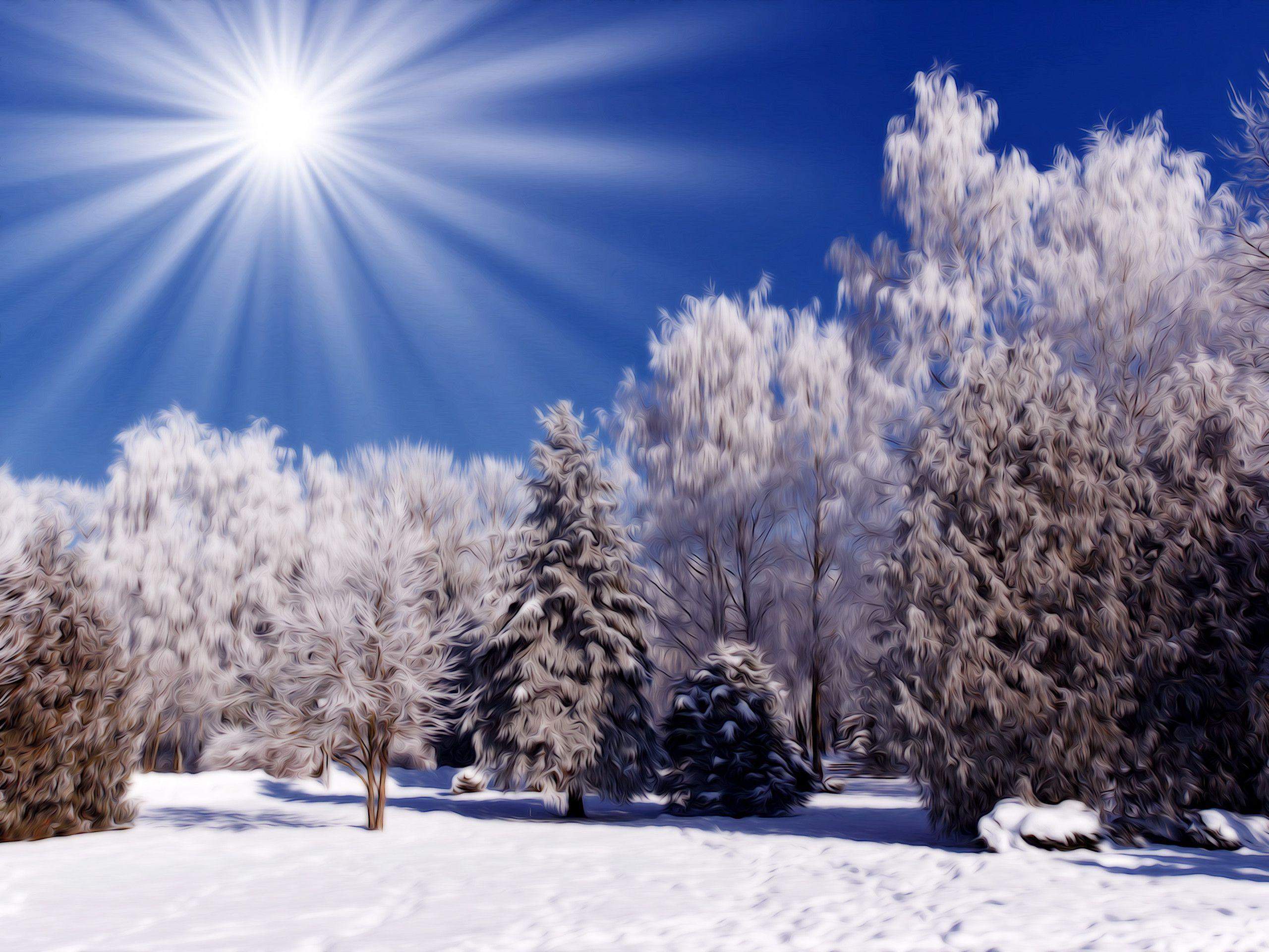 Free Winter Scene Wallpapers