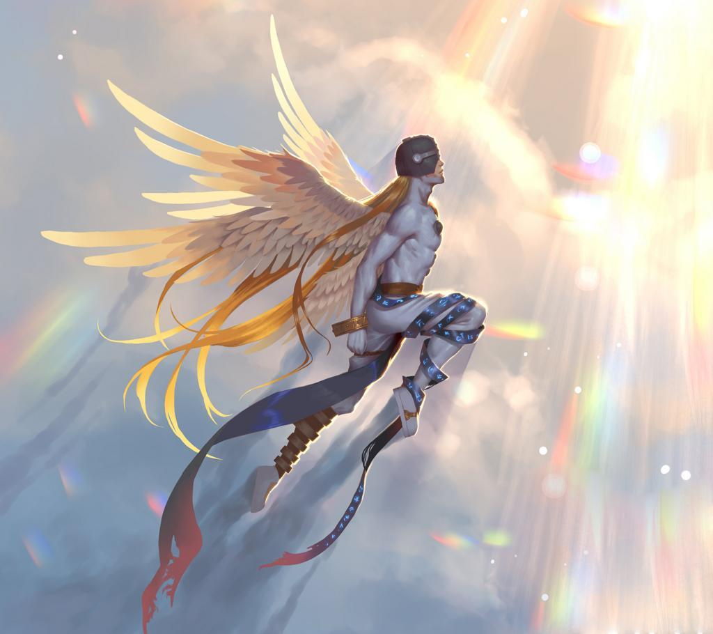 Download Angemon wallpapers to your cell phone - angemon angewomon ...