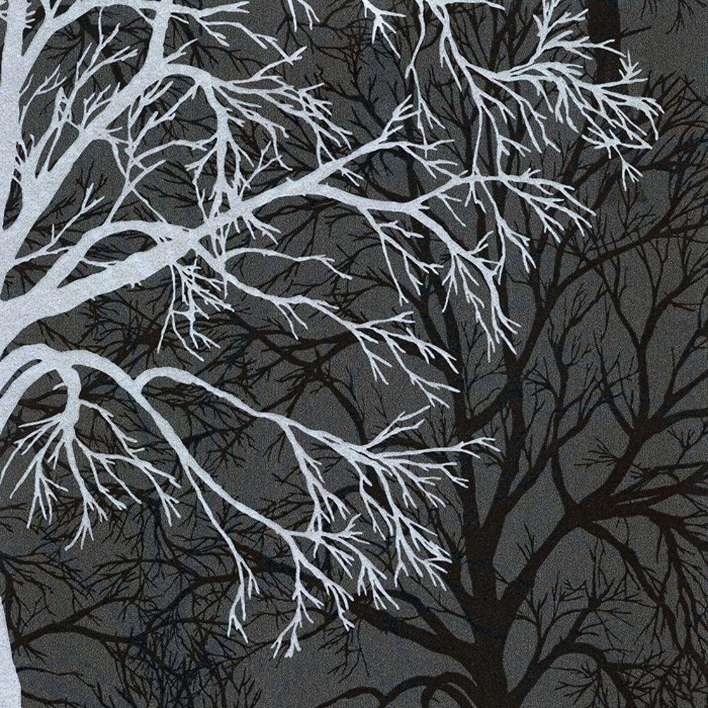 A.S. Creation Life Grey & Silver Tree Print Metallic Wallpaper ...