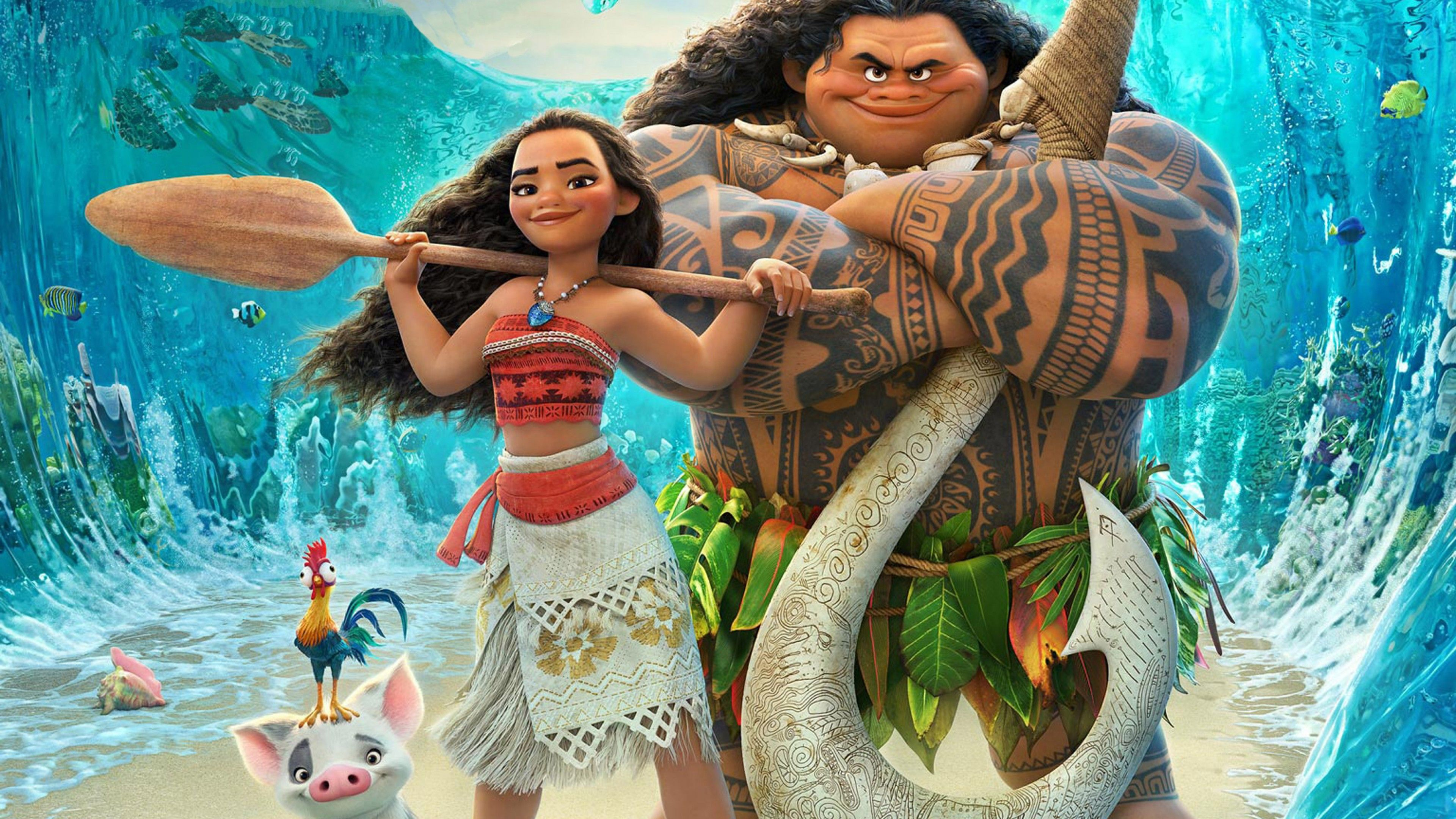 Wallpaper Disney, Moana, Animation, HD, Movies, #2222