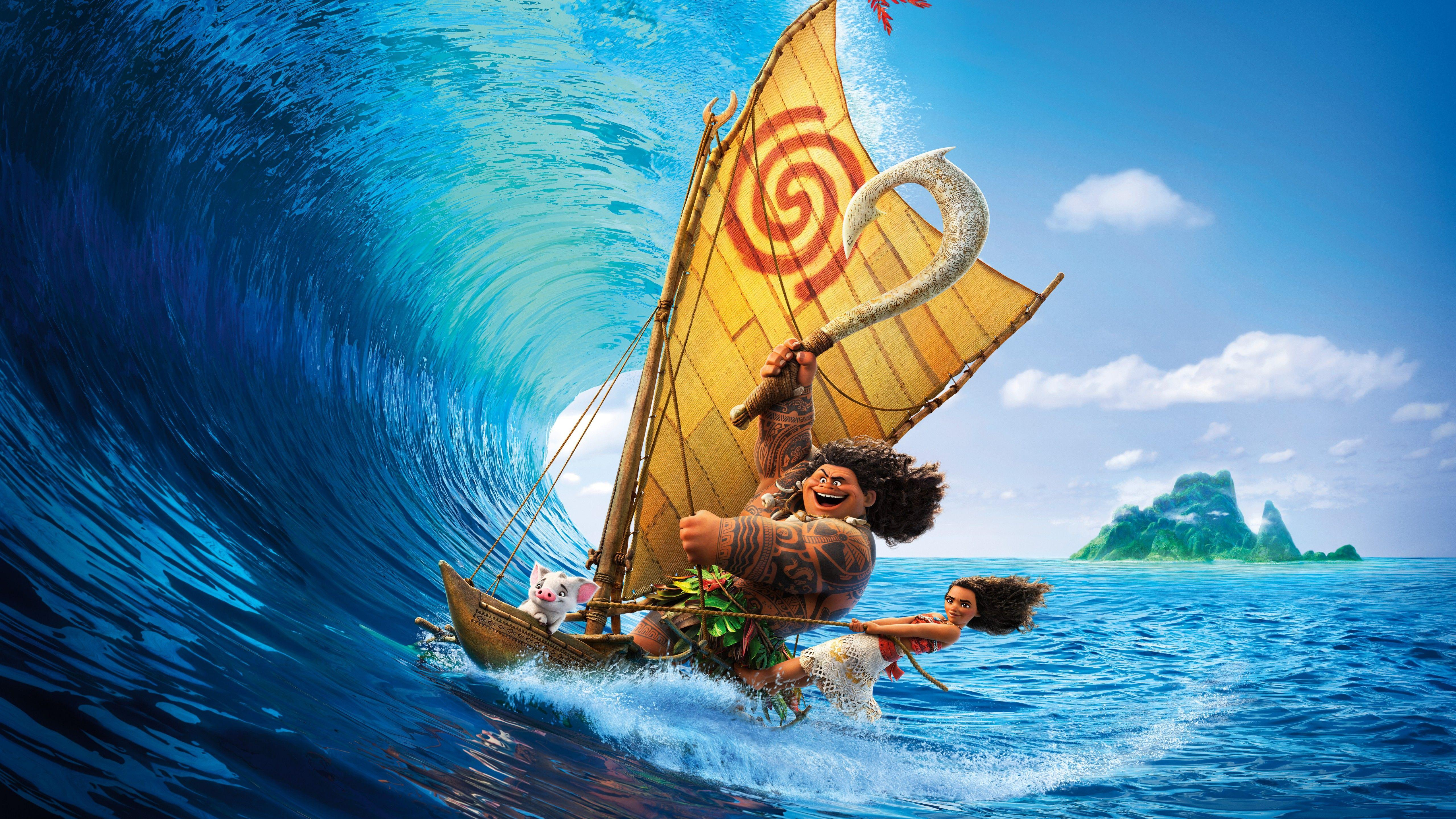 Wallpaper Moana, Disney, Animation, HD, 8K, Movies, #3781