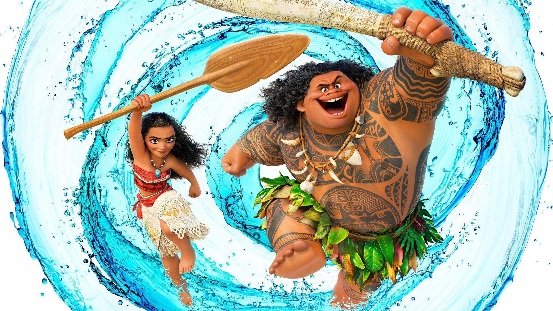 Moana and Maui Disney Movie Wallpaper #15570