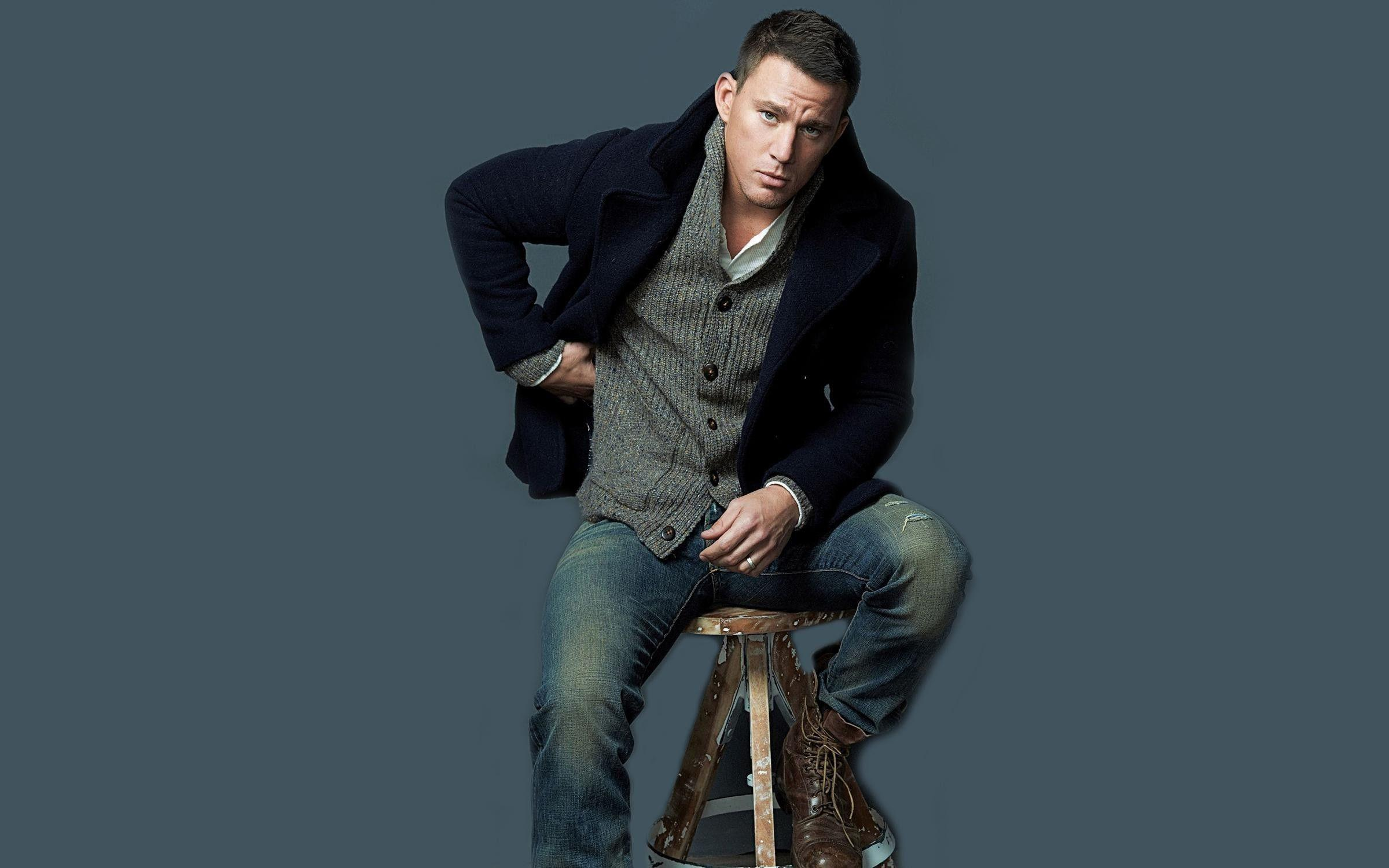 channing tatum stylish handsome hollywood actor desktop image wide