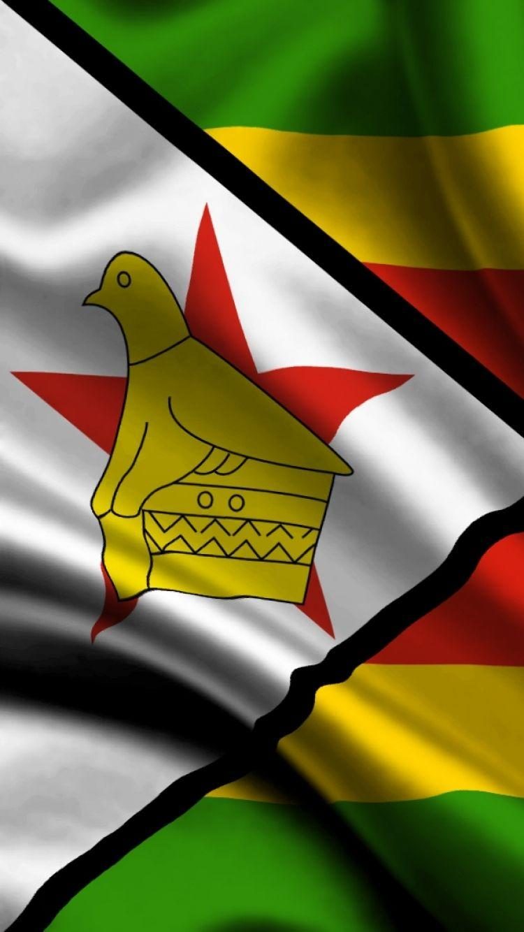 Download Wallpaper 750x1334 Zimbabwe, atlas, Flag, Cloth, Silk ...