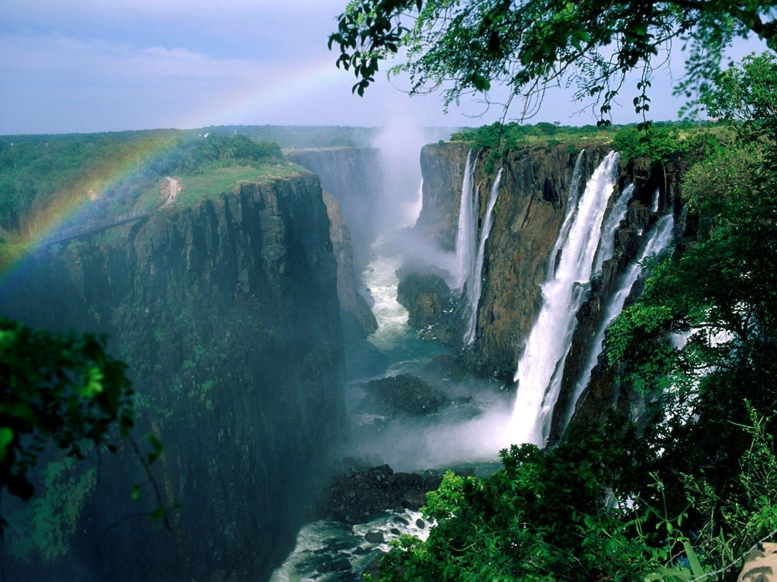 Zimbabwe Waterfalls & Rainbow wallpapers | Zimbabwe Waterfalls ...