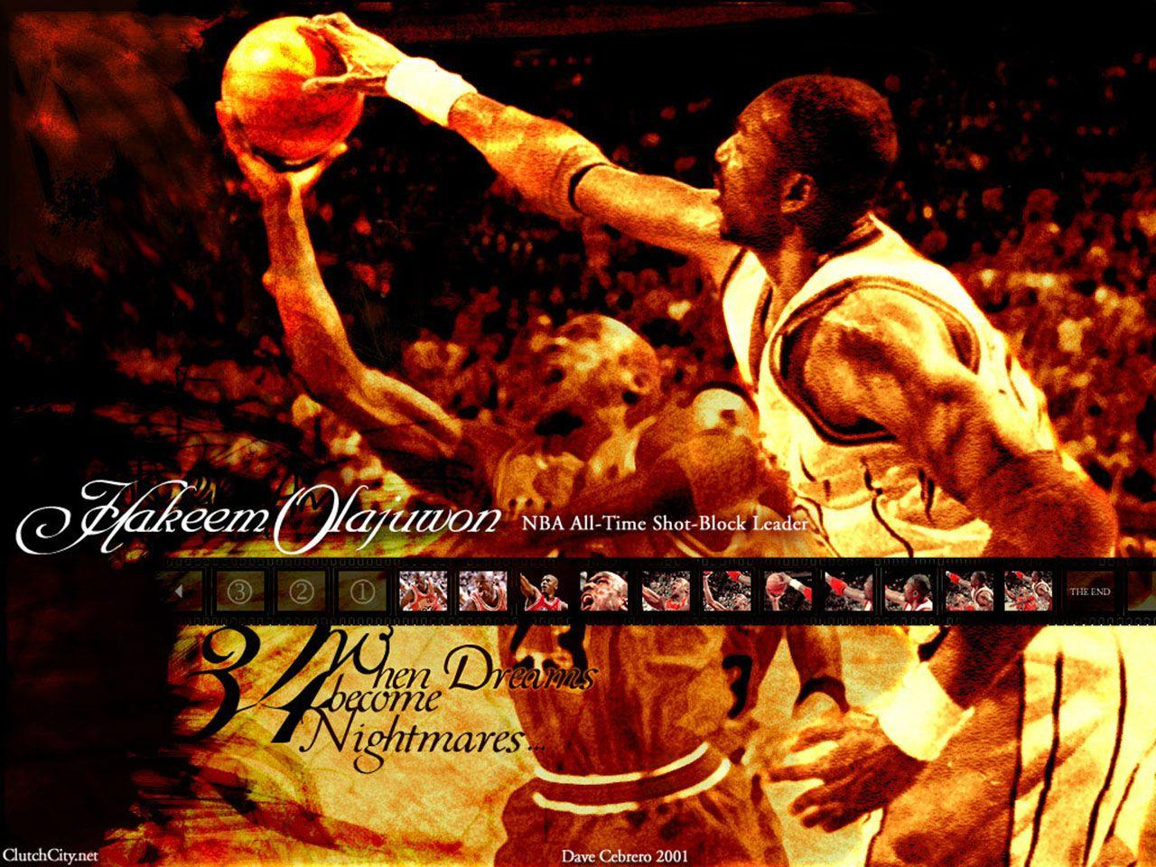Hakeem Olajuwon NBA player wallpapers