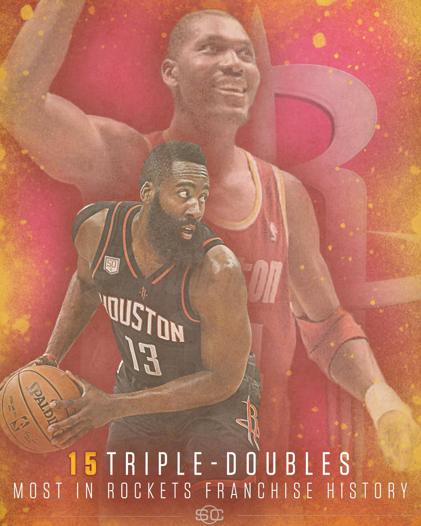 James Harden records his 15th career triple