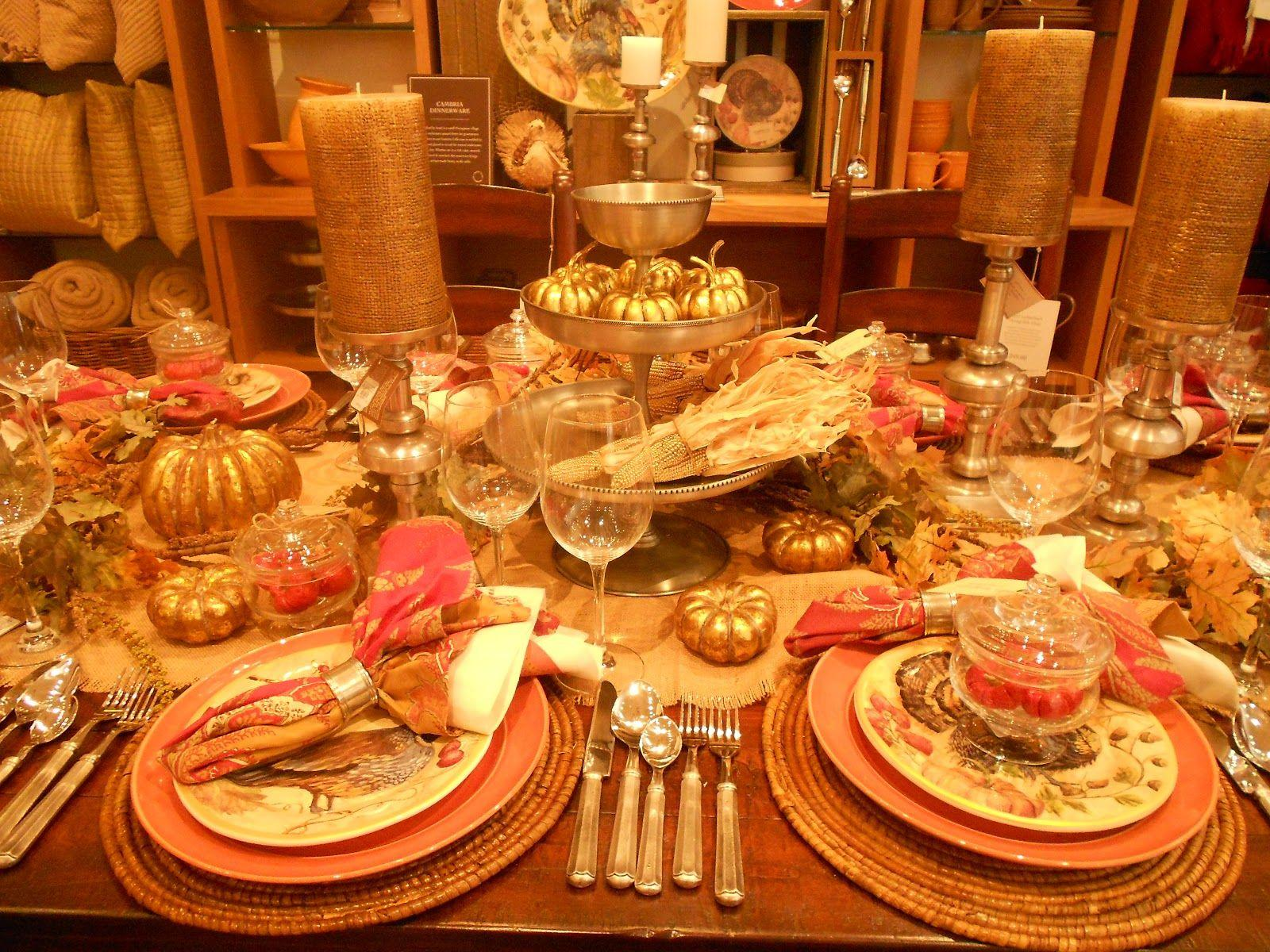 How To Decorate A Table For Thanksgiving Thanksgiving Table ...