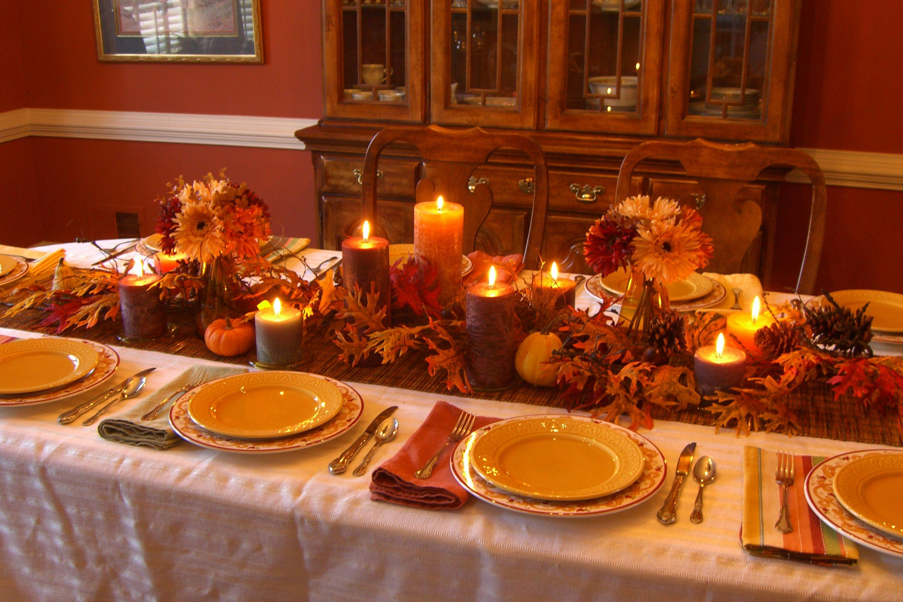 Hotel Reservation Beautiful Thanksgiving Table Decorations Ideas ...