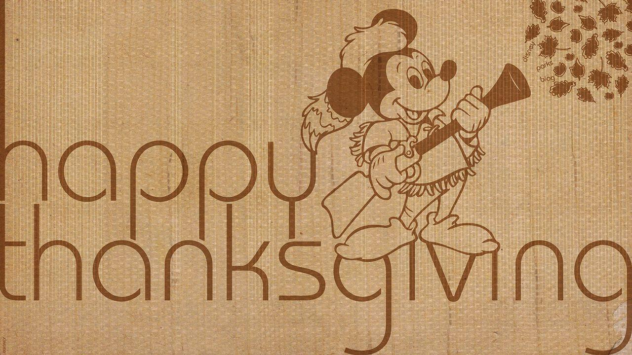 Download Two Disney Parks Thanksgiving Wallpapers
